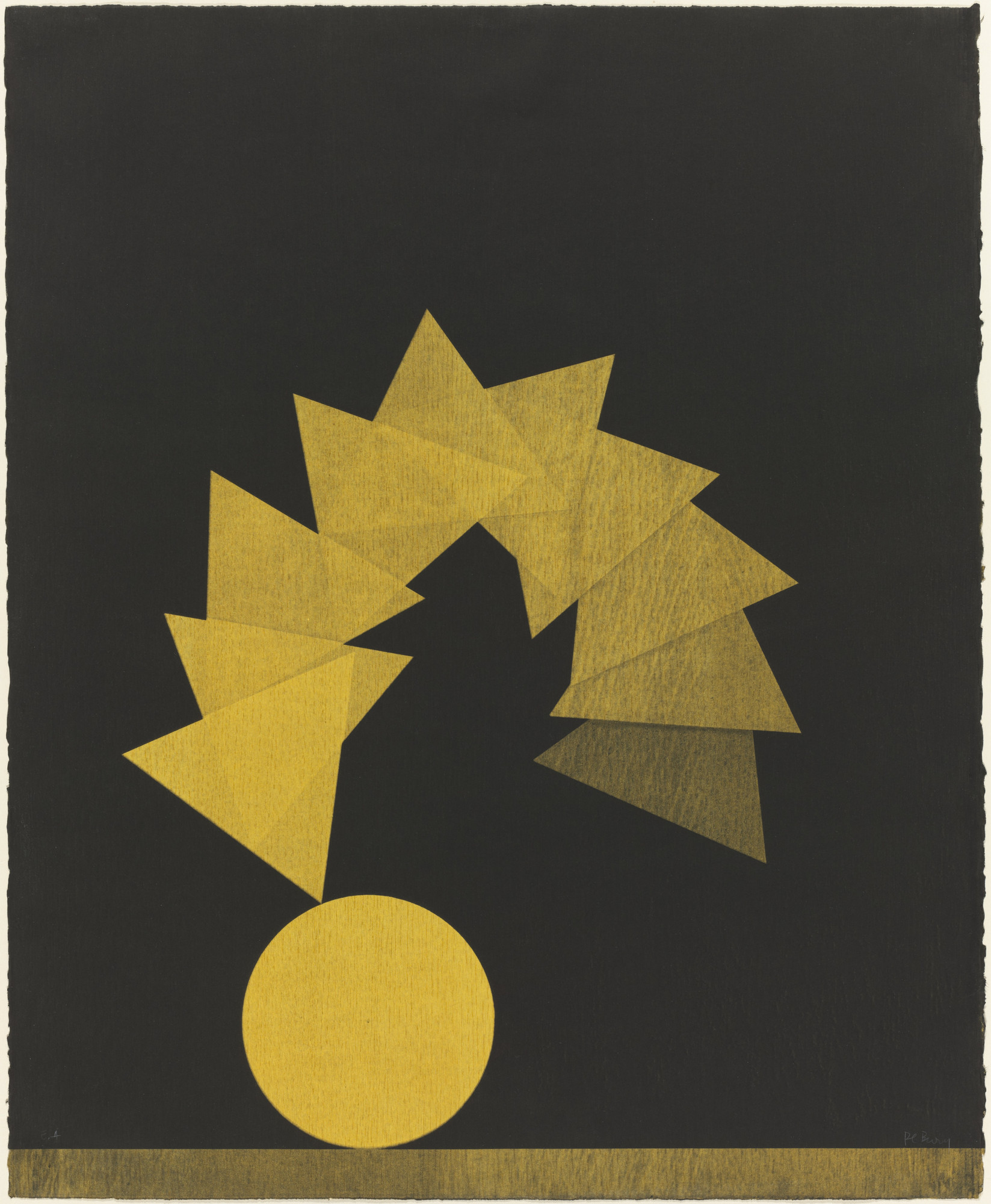 Pol Bury. Circle and Ten Triangles. 1976