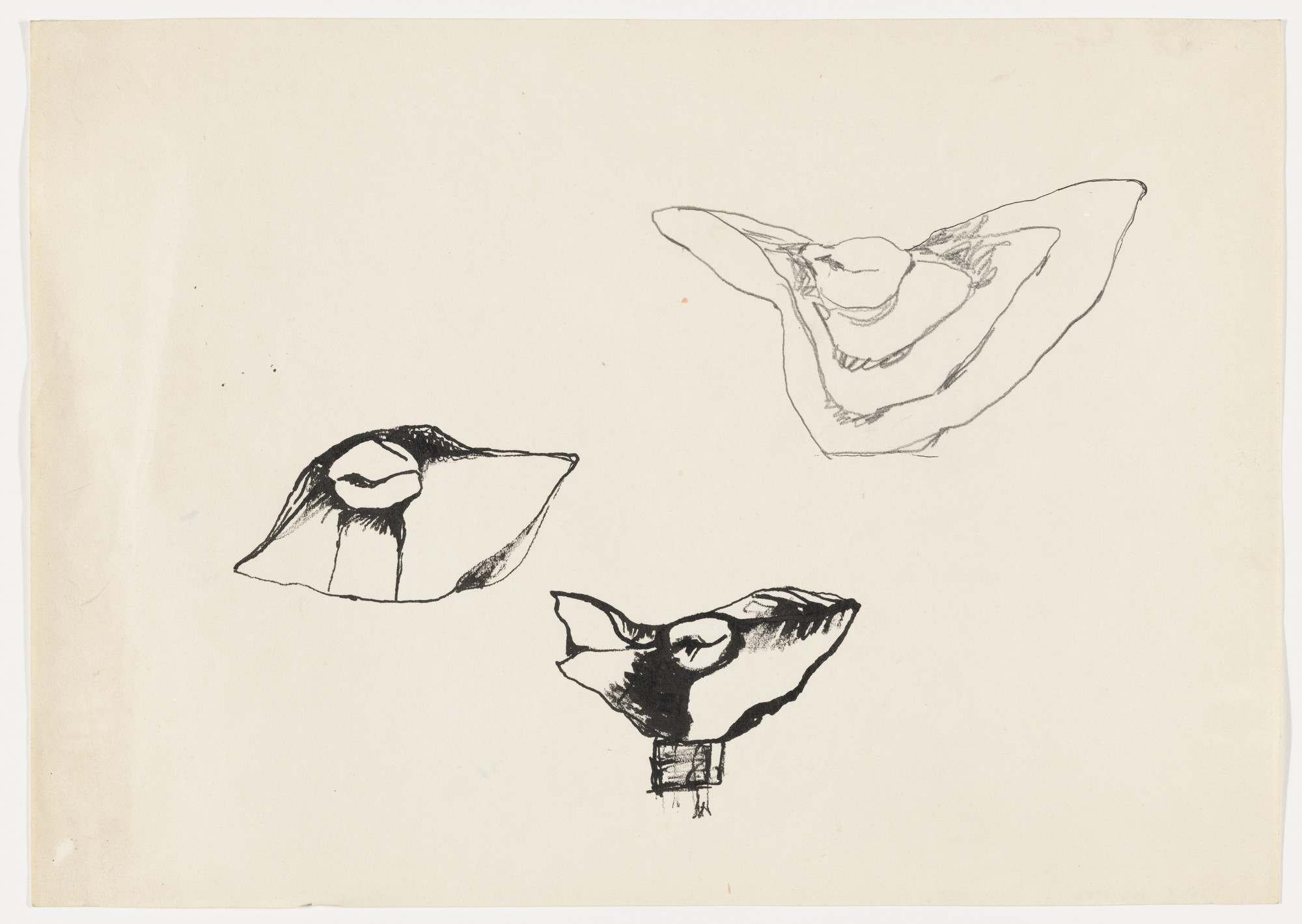 Alina Szapocznikow. Untitled (Sketch for the Sculpture Metamorphoses 1 [Przemiany 1]). c. 1961