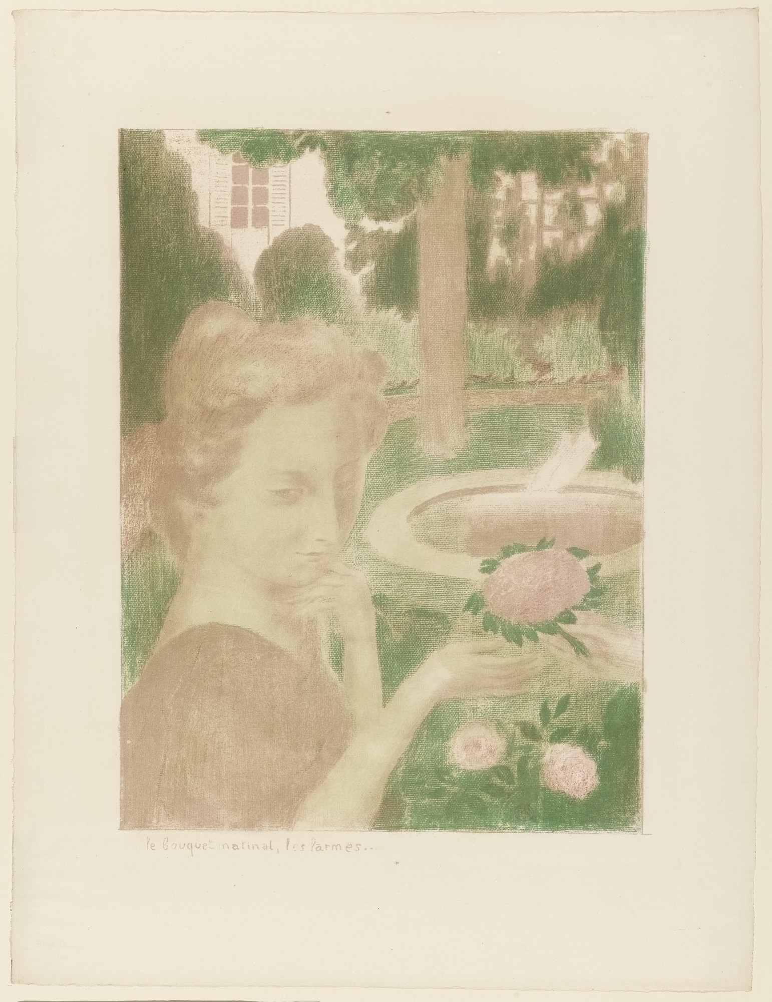 Maurice Denis. The Morning Bouquet, the Tears... (Le Bouquet matinée, les larmes...) from the portfolio Love (Amour). (1899)