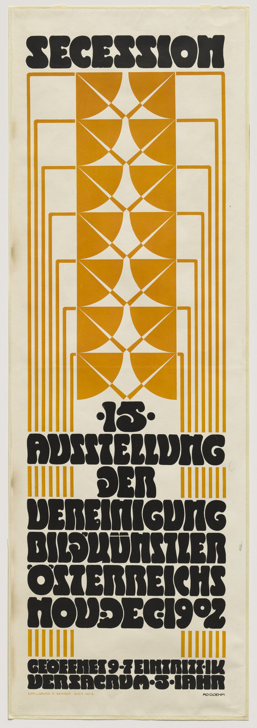 Adolf Boehm. Poster for the Fifteenth Secession Exhibition. 1902
