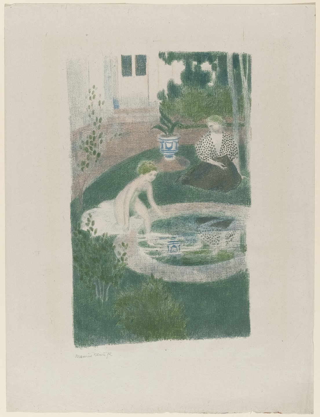 Maurice Denis. The Reflection in the Fountain (Le Reflet dans la fontaine) from the portfolio The Album of Original Prints from the Vollard Gallery (L'Album d'estampes orginales de la Galerie Vollard). 1897