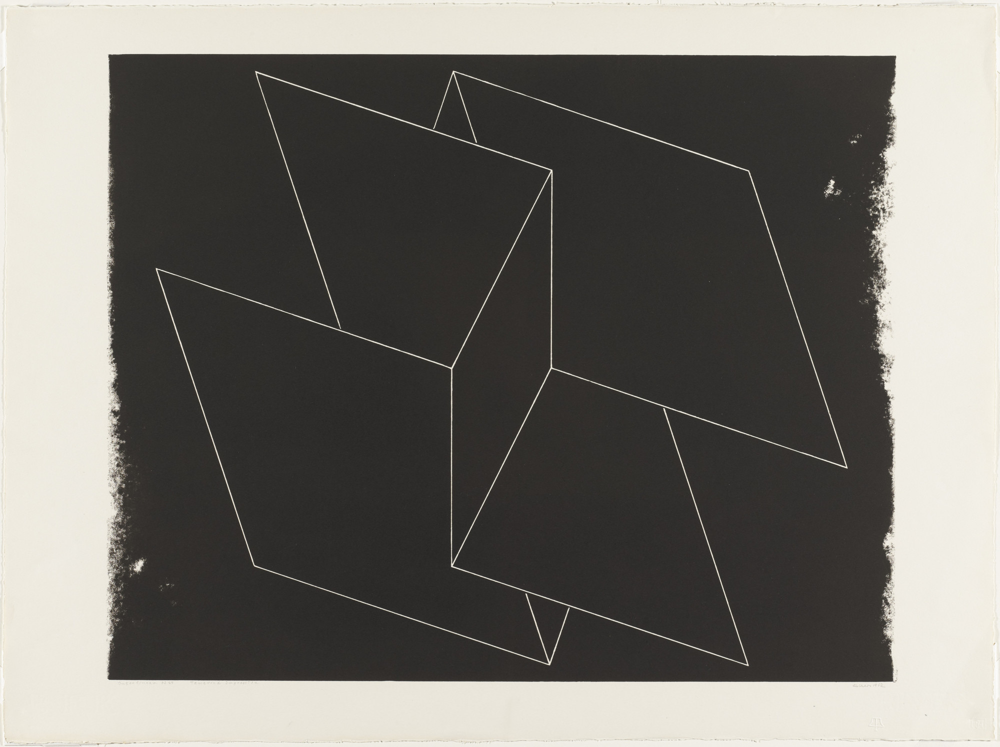 Josef Albers. Interlinear N 65. (May 8-June 1) 1962