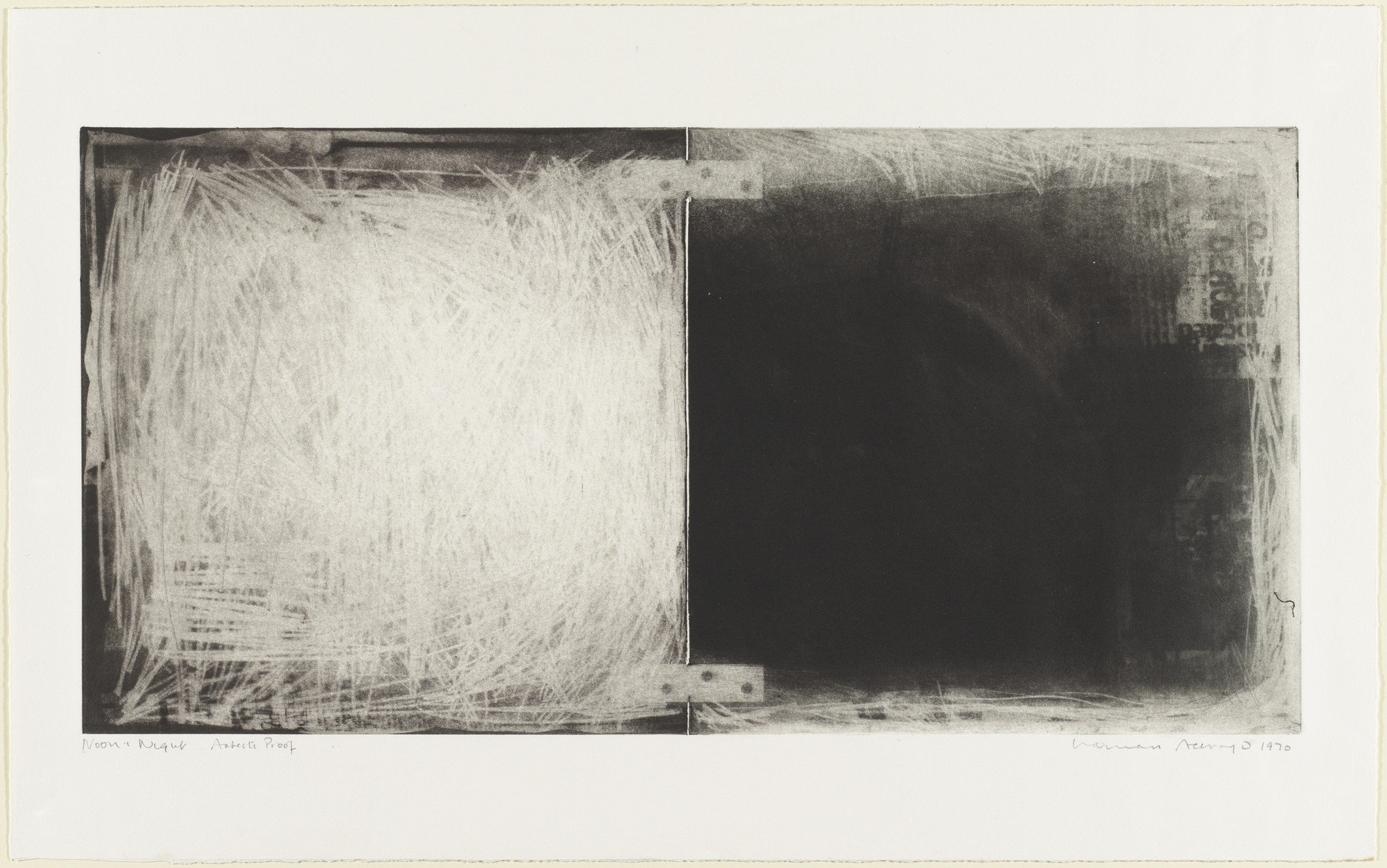 Norman Ackroyd. Noon and Night. 1970