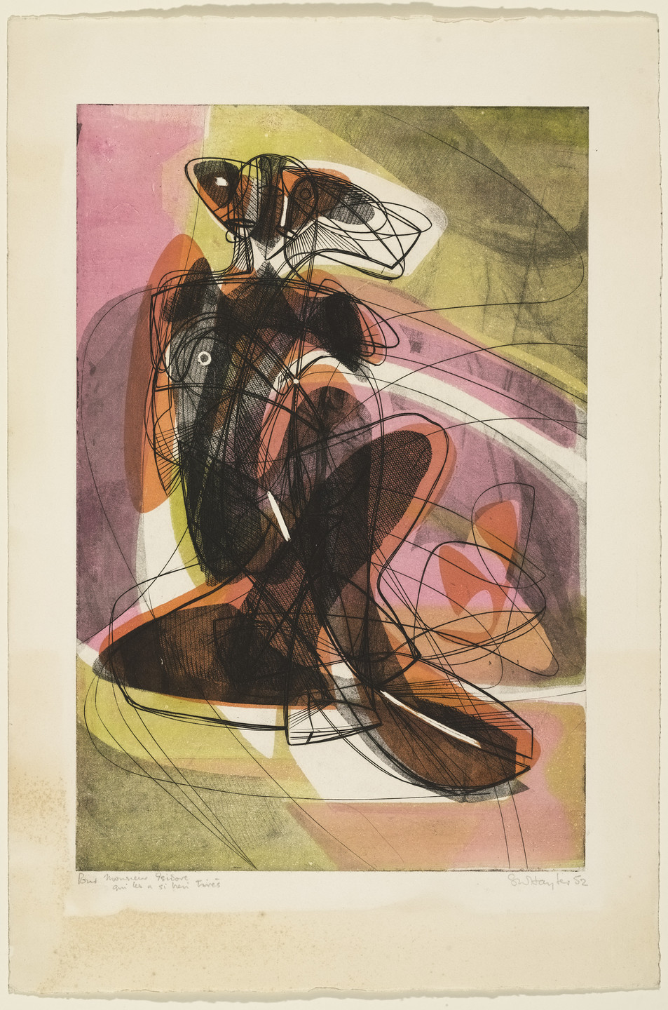 Stanley William Hayter. The Couple. 1952