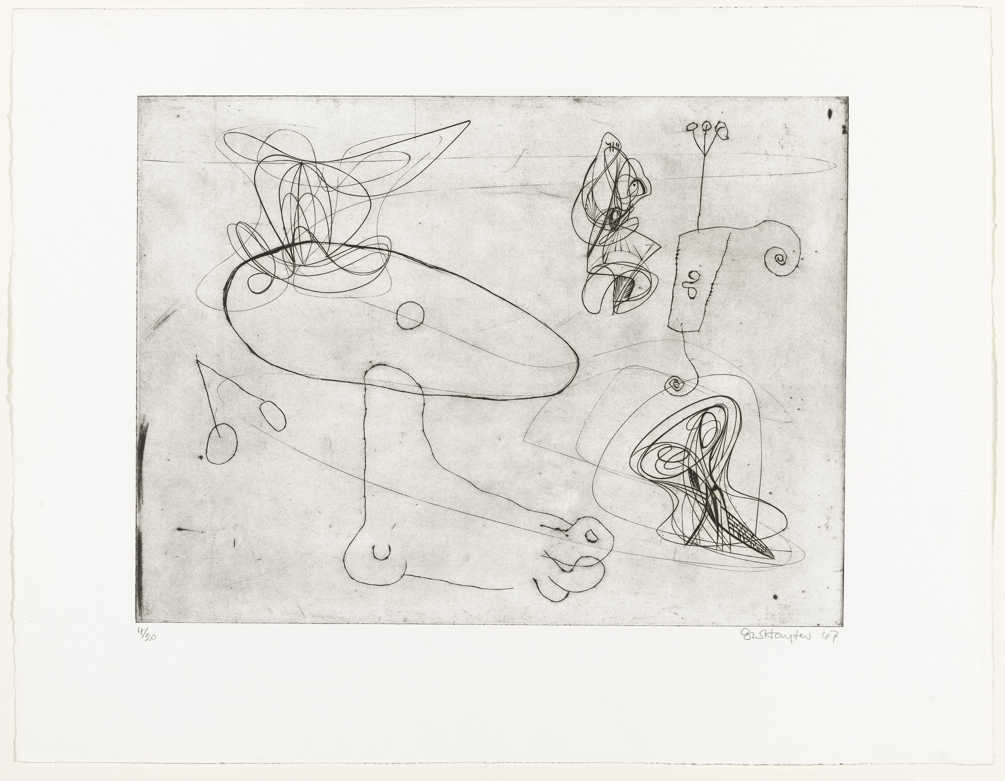 Stanley William Hayter, Joan Miró. Untitled. 1947, published 1982