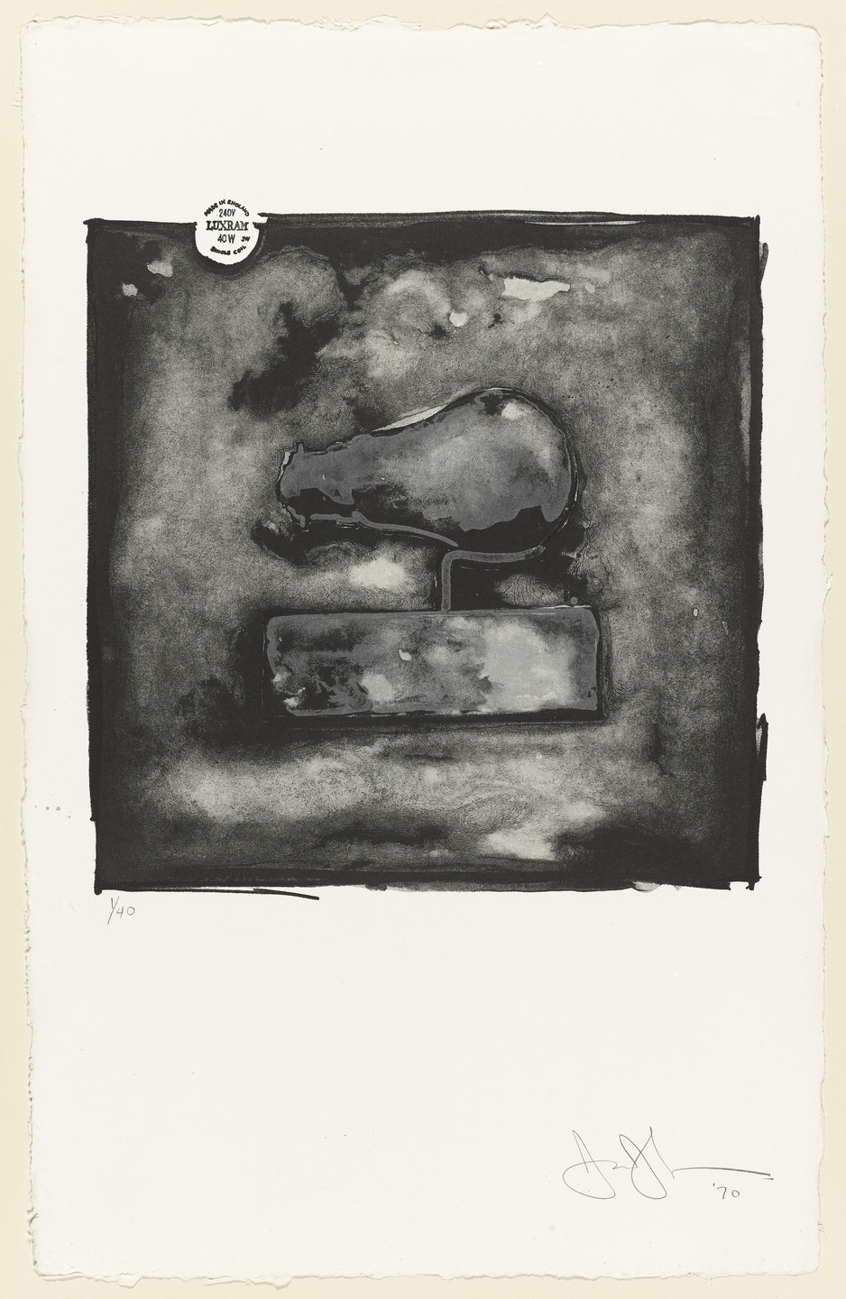 Jasper Johns. Light Bulb. 1970