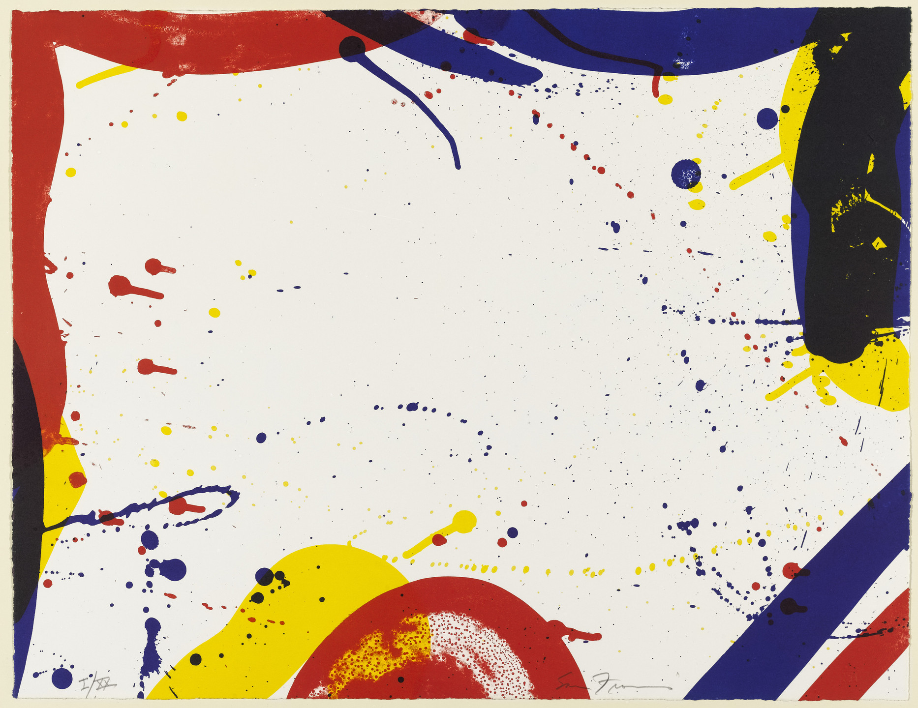 Sam Francis. Untitled from 9. 1967