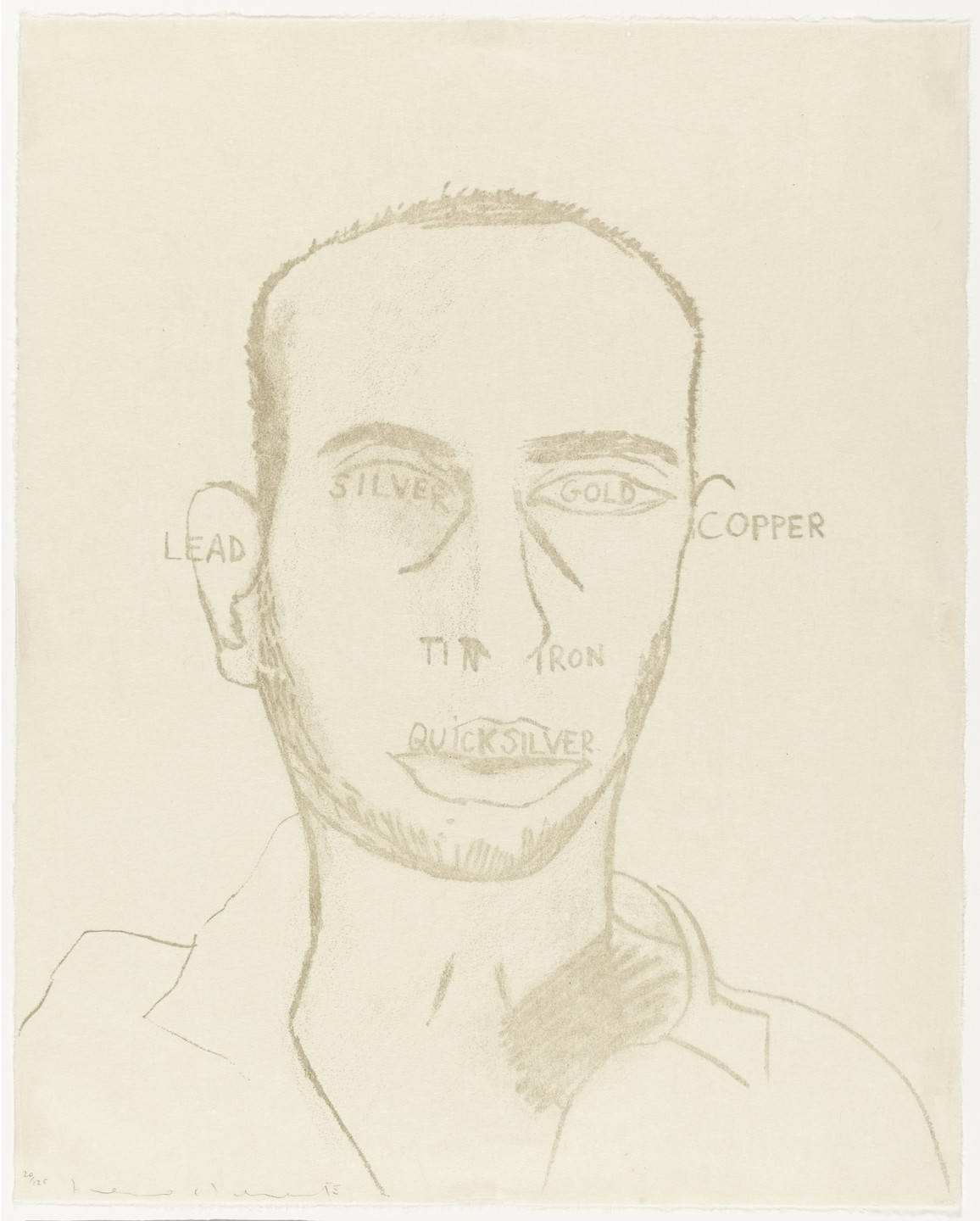 Francesco Clemente. Traditional Self Portrait from the portfolio Art Pro Choice II. 1991