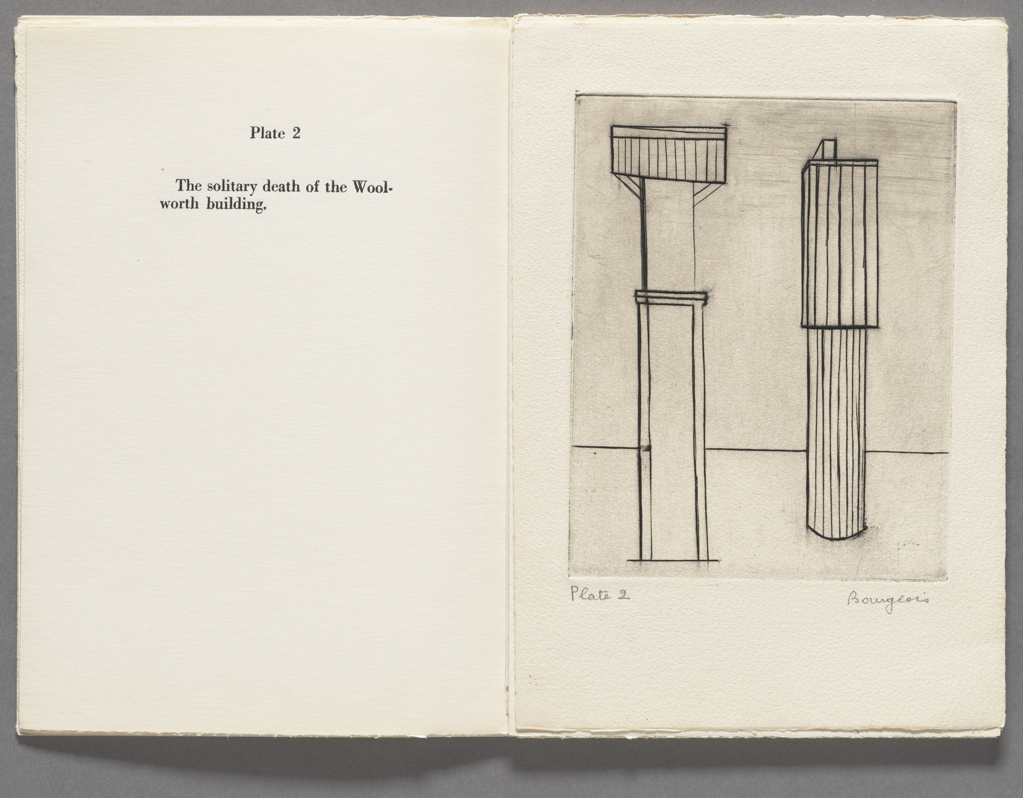 Louise Bourgeois. Plate 2 of 9, from the illustrated book, He Disappeared into Complete Silence, first edition (Example 1). 1947