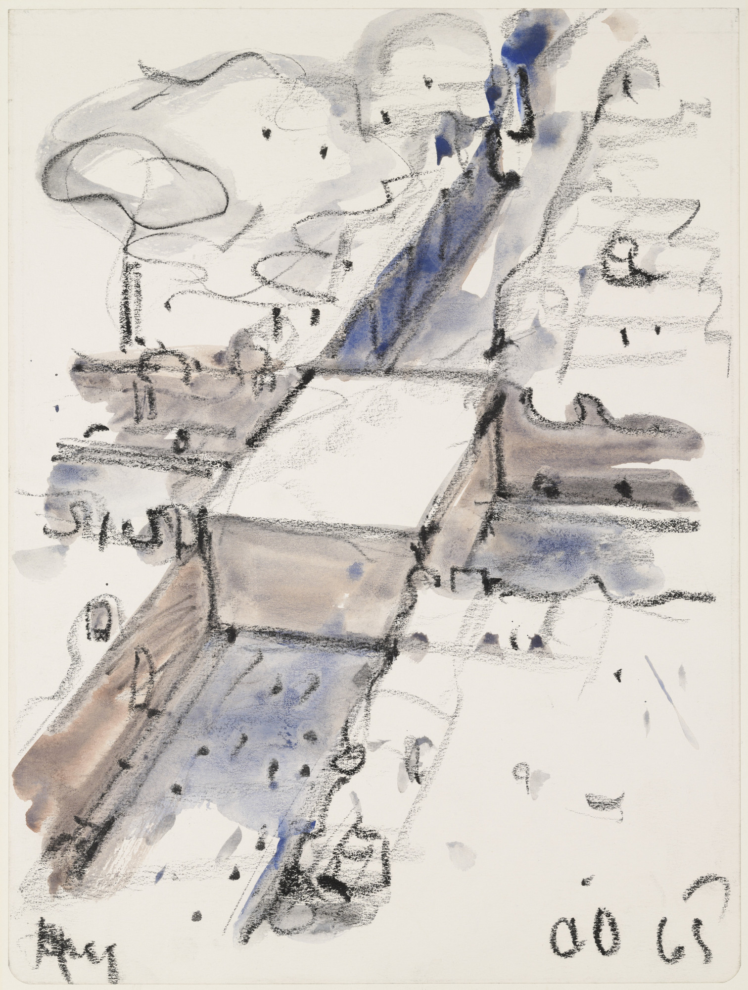 Claes Oldenburg. Proposed Monument for the Intersection of Canal Street and Broadway, N.Y.C. -- Block of Concrete with the Names of War Heroes. 1965