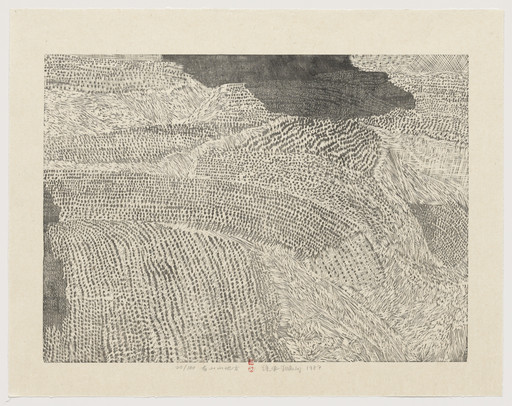 Xu Bing. A Mountain Place from Series of Repetitions. 1987