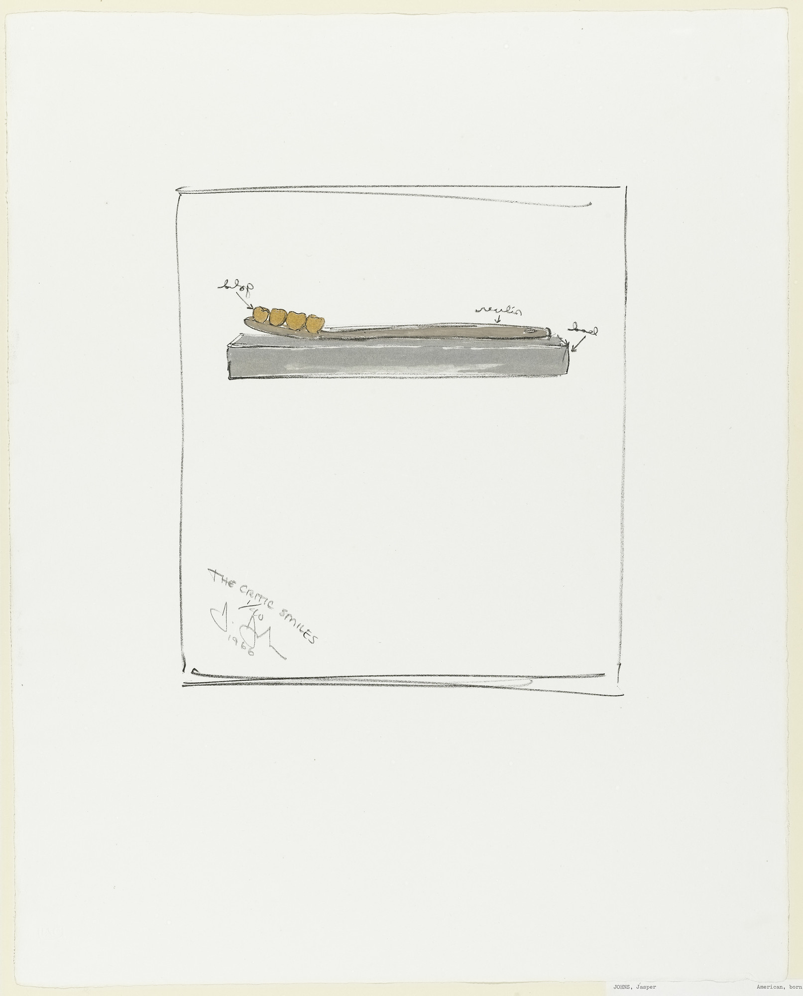 Jasper Johns. The Critic Smiles. 1966
