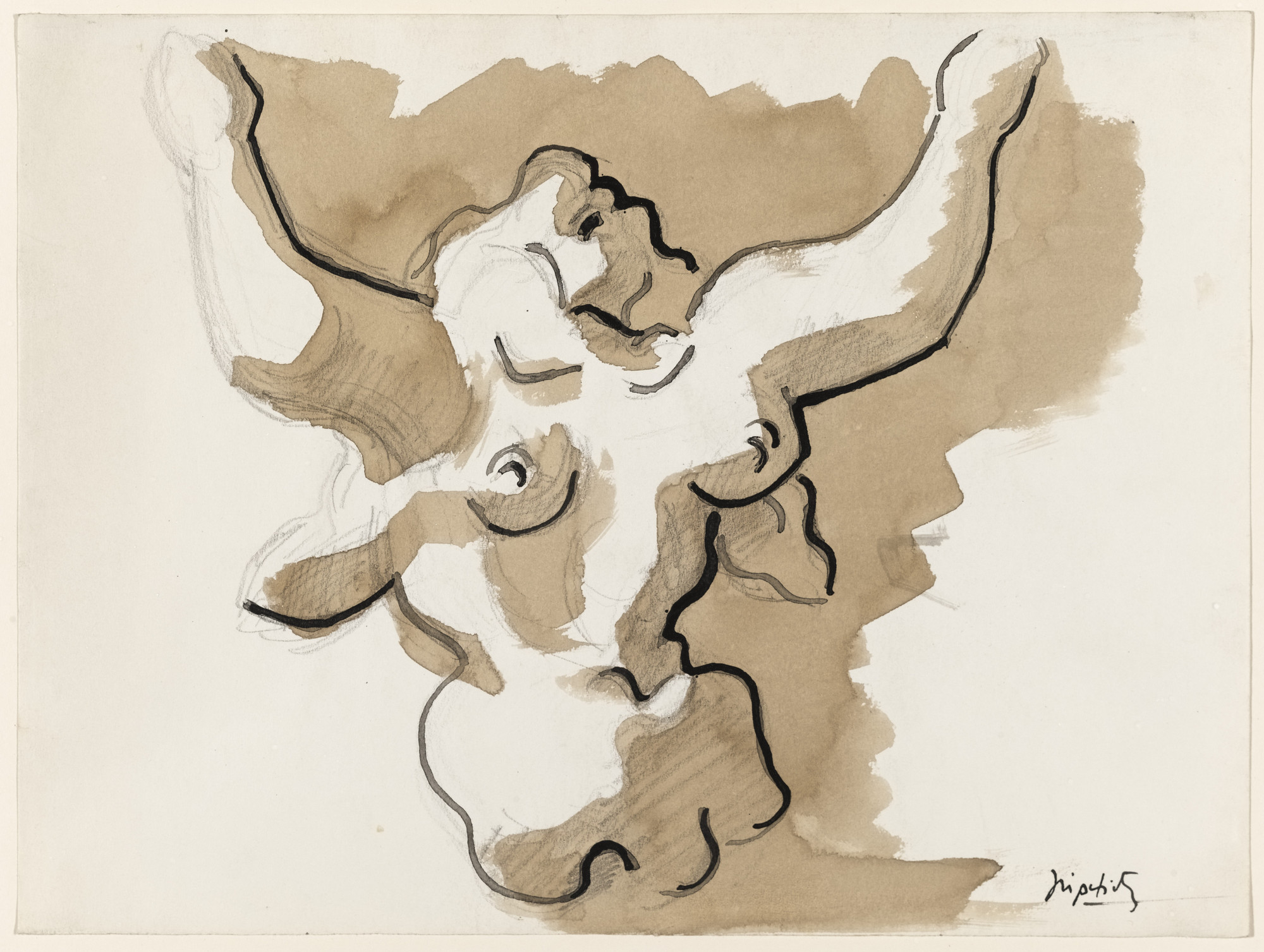Jacques Lipchitz. Study for the sculpture Mother and Child. (1939)