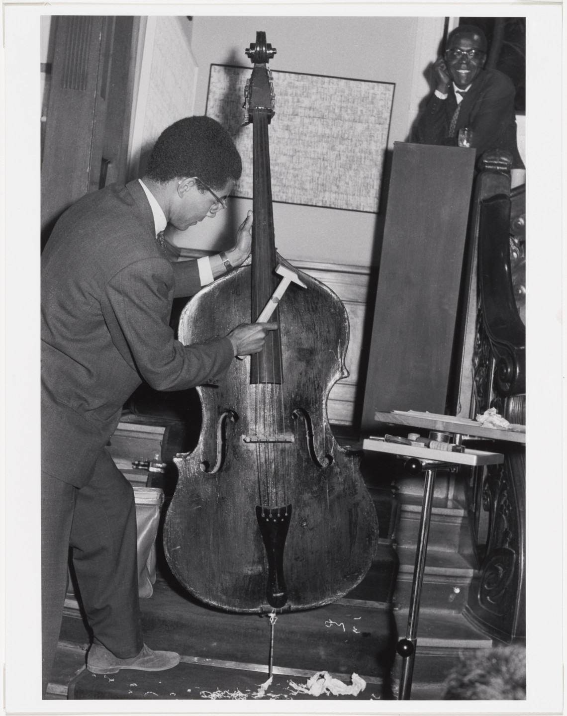 Benjamin Patterson. Benjamin Patterson's Variations for Double-Bass, performed during Kleines Sommerfest: Après John Cage, Galerie Parnass, Wuppertal, West Germany, June 9, 1962. 1962