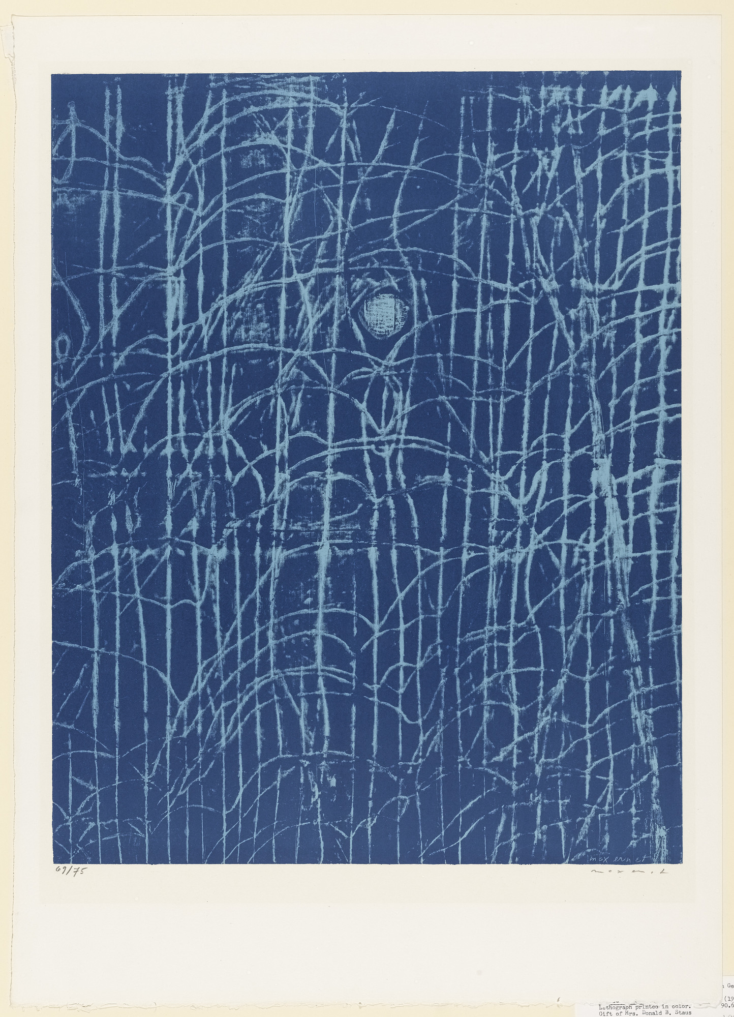 Max Ernst. Forest at Dawn (La Forêt, à l'aube). 1958