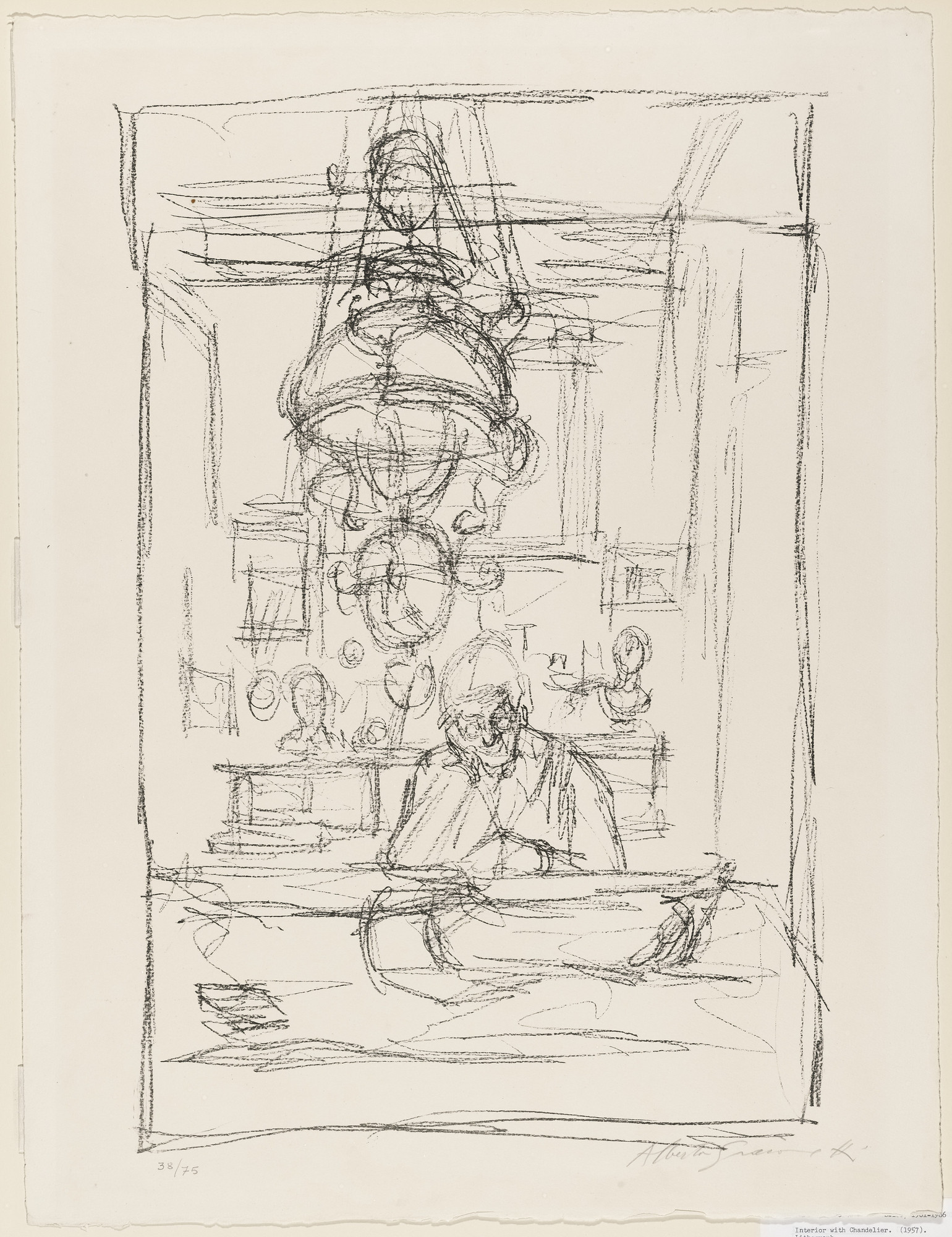 Alberto Giacometti. Interior with Chandelier. 1959