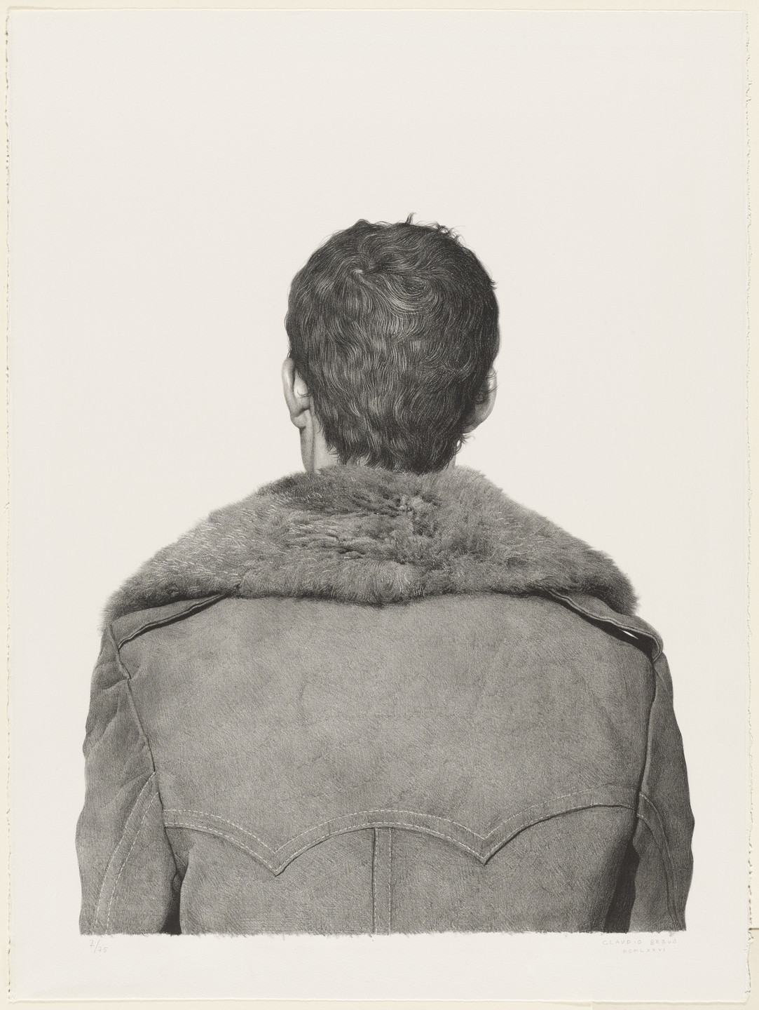 Claudio Bravo. Fur Coat Front and Back. 1976