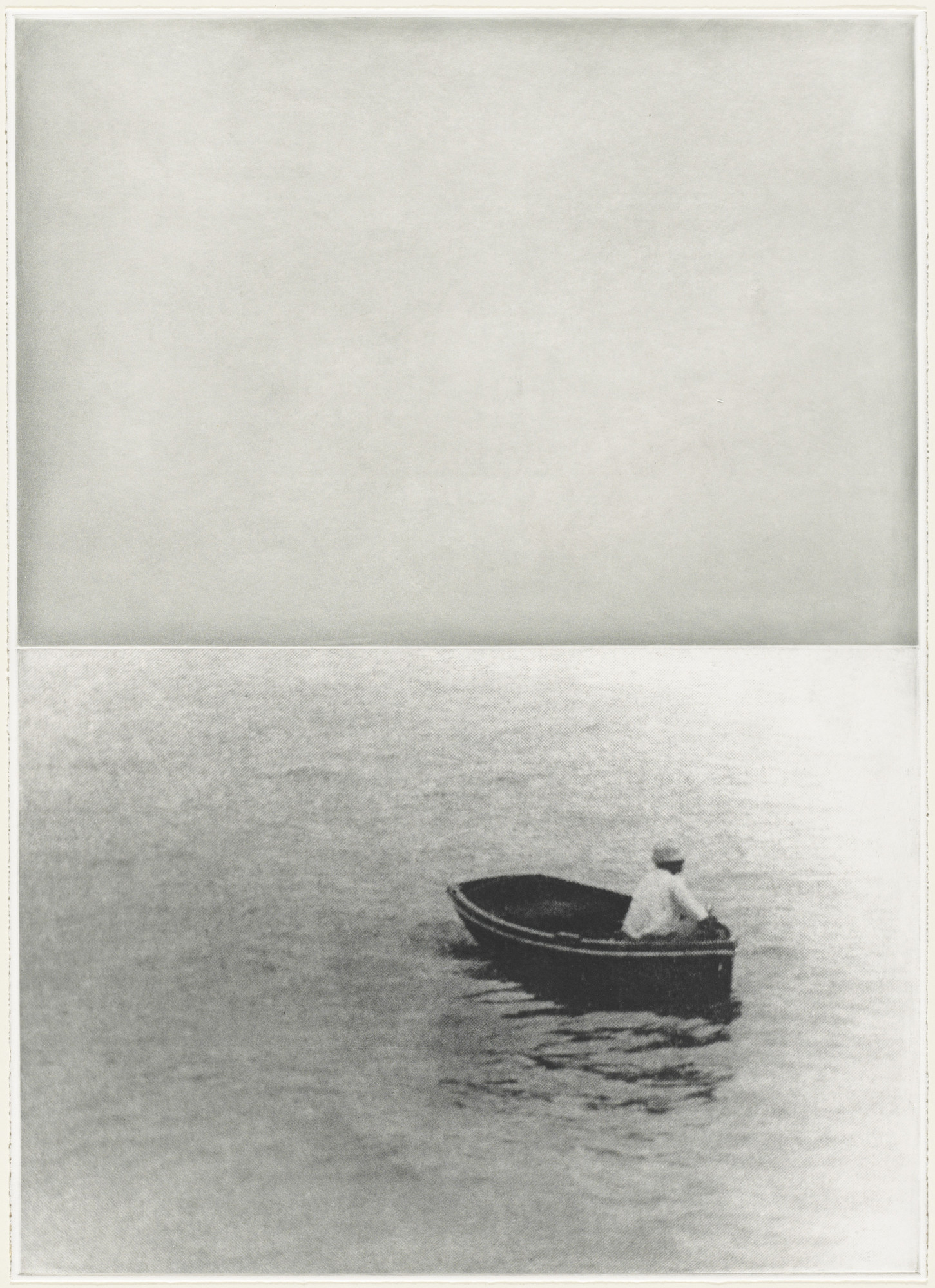 John Baldessari. Boat (With Figure Standing) from the portfolio Hegel's Cellar. (1986)