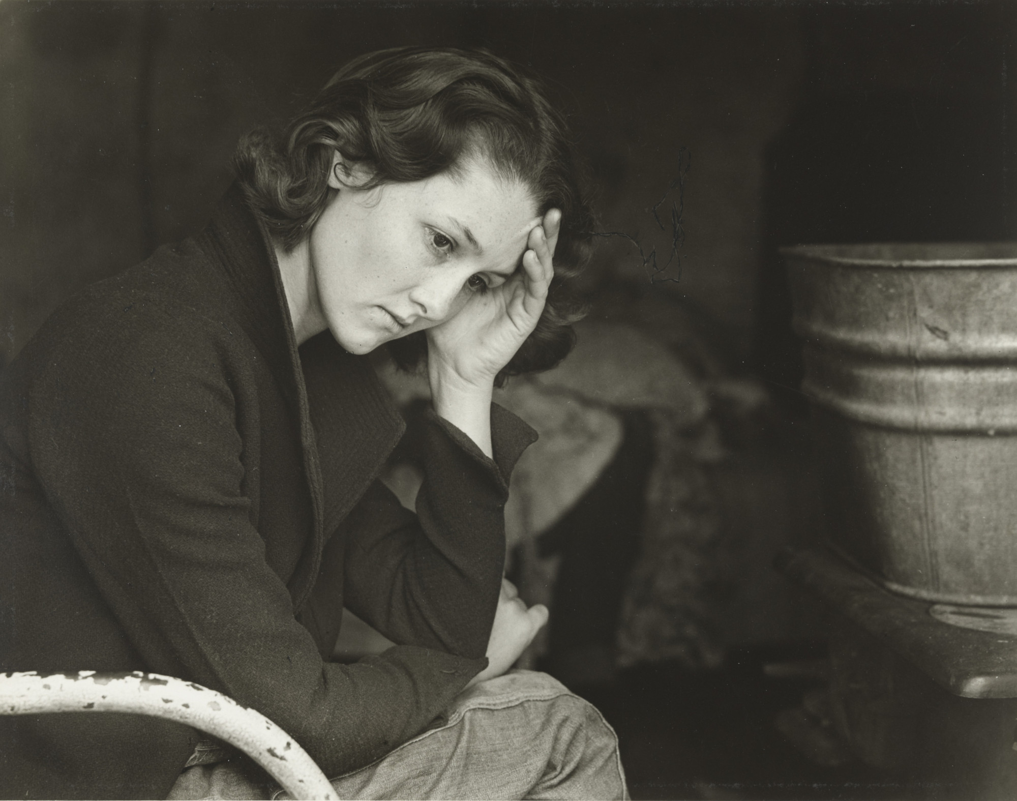 Dorothea Lange. Daughter of Migrant Tennessee Coal Miner Living in American River Camp Near Sacramento, California. November 1936