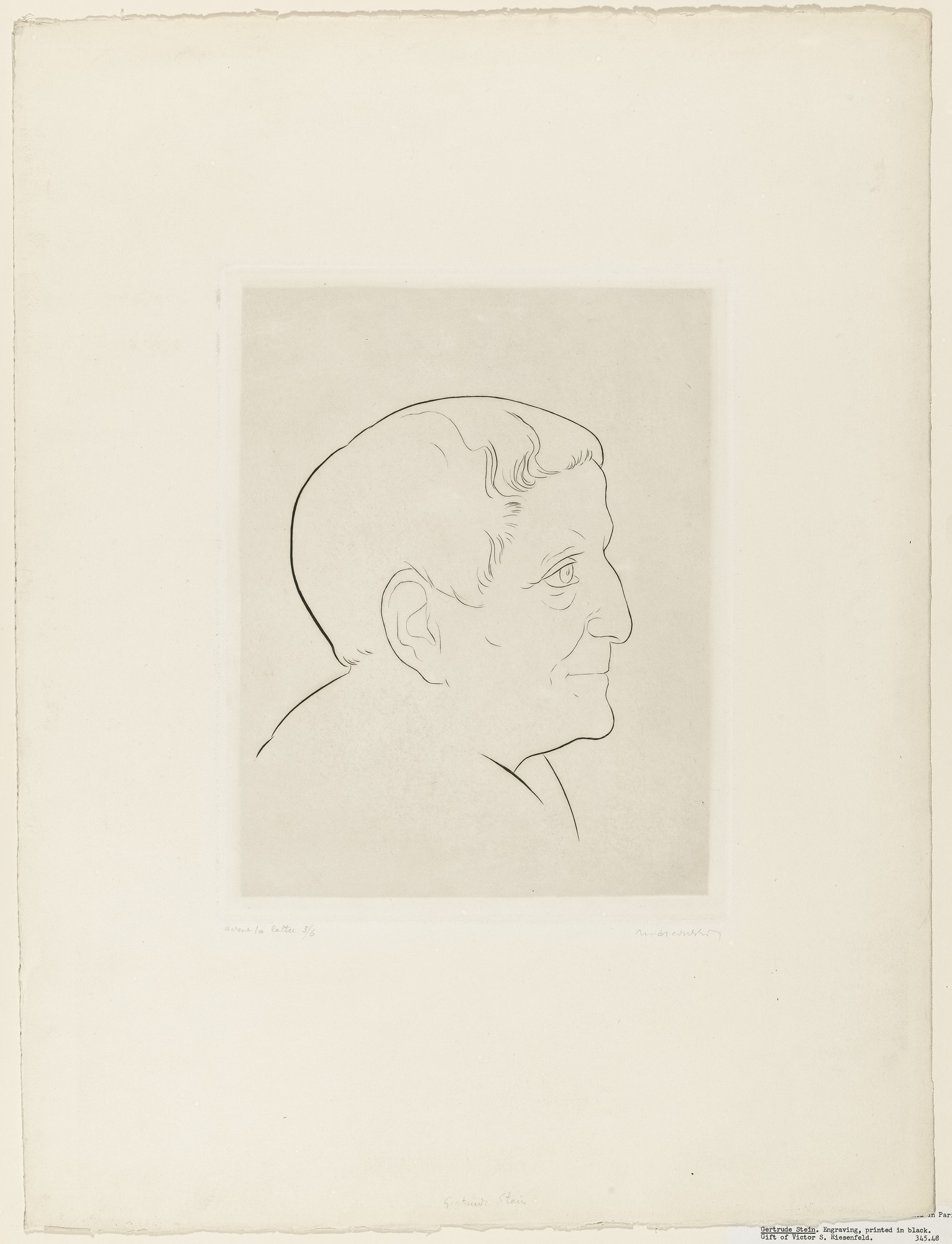Louis Marcoussis. Gertrude Stein. 1898