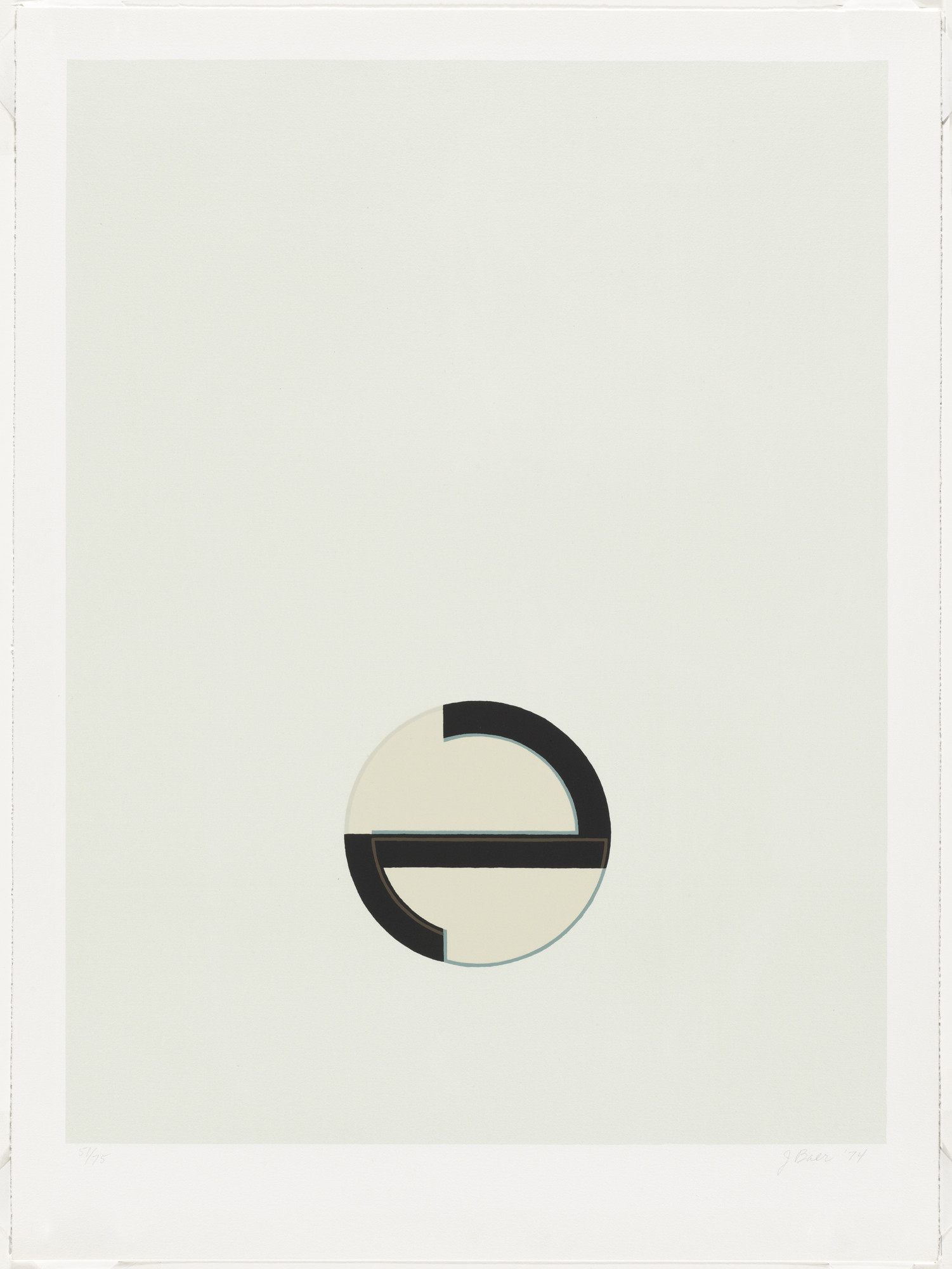 Jo Baer. Untitled from Cardinations. 1974