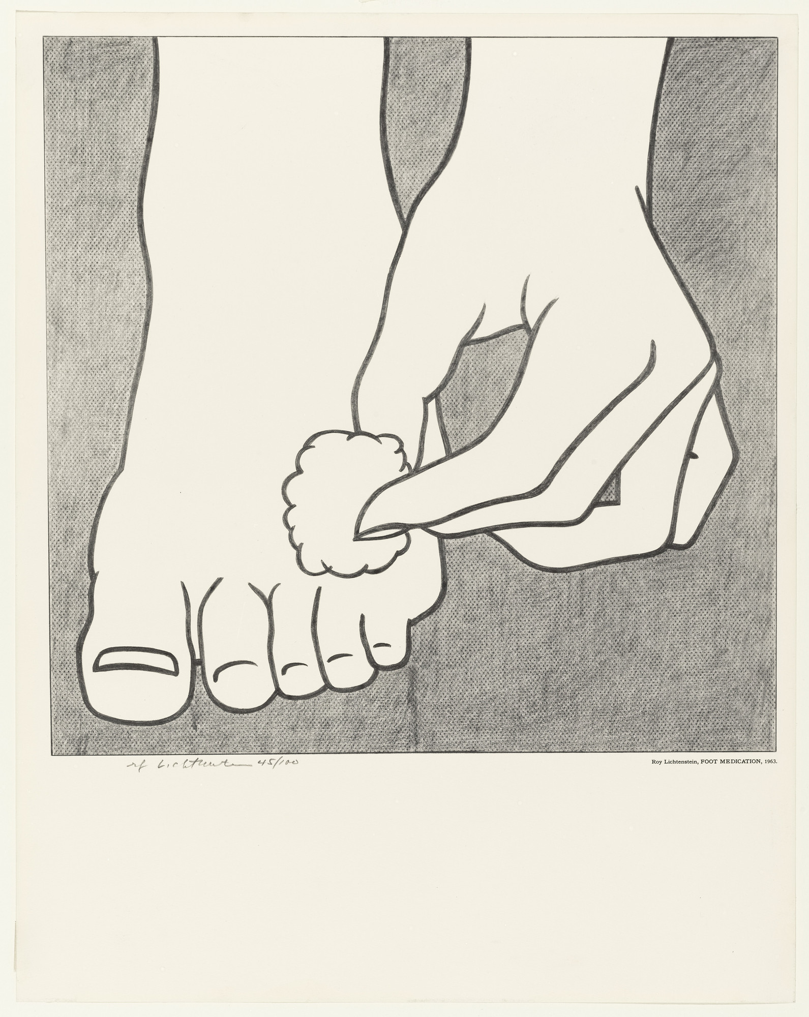 Roy Lichtenstein. Foot Medication. 1963