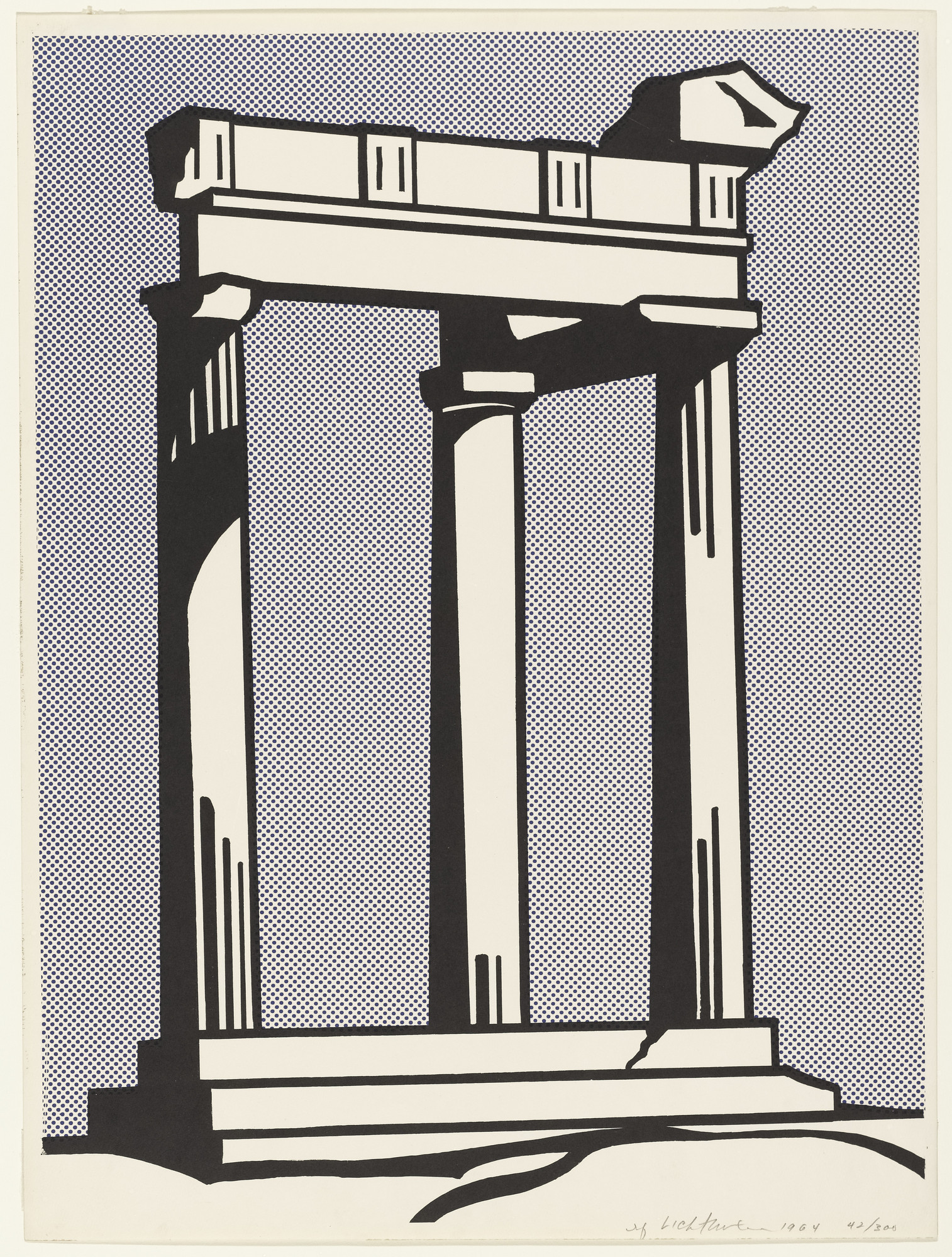 Roy Lichtenstein. Temple. 1964