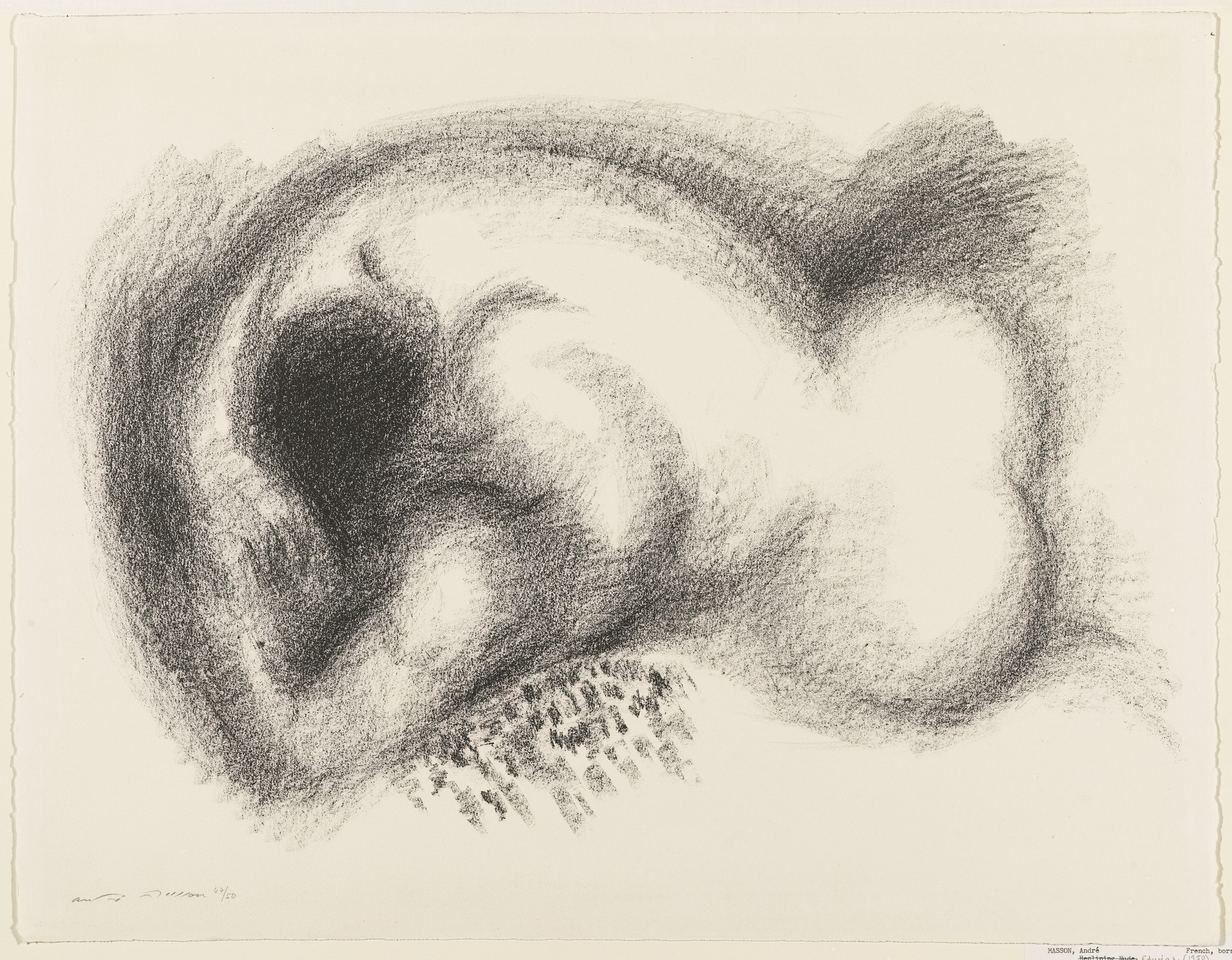 André Masson. Reclining Nude. 1956