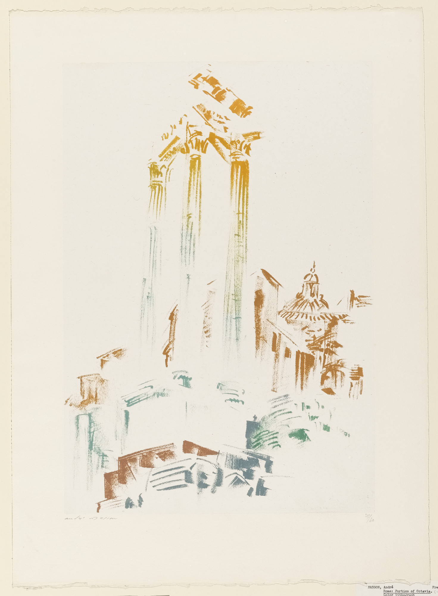 André Masson. Rome: Portico of Octavia. 1956