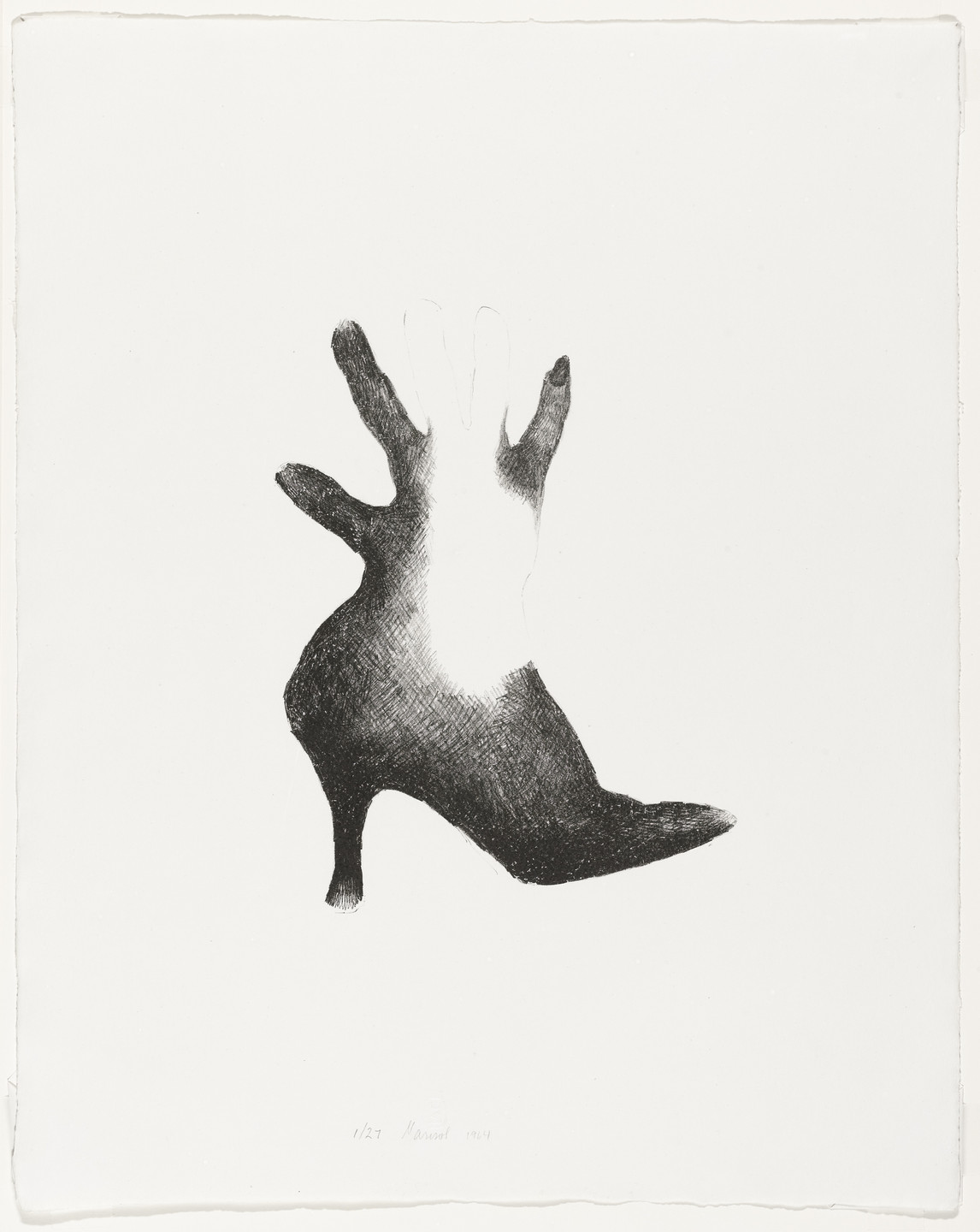 Marisol (Marisol Escobar). Shoe and Hand. 1964