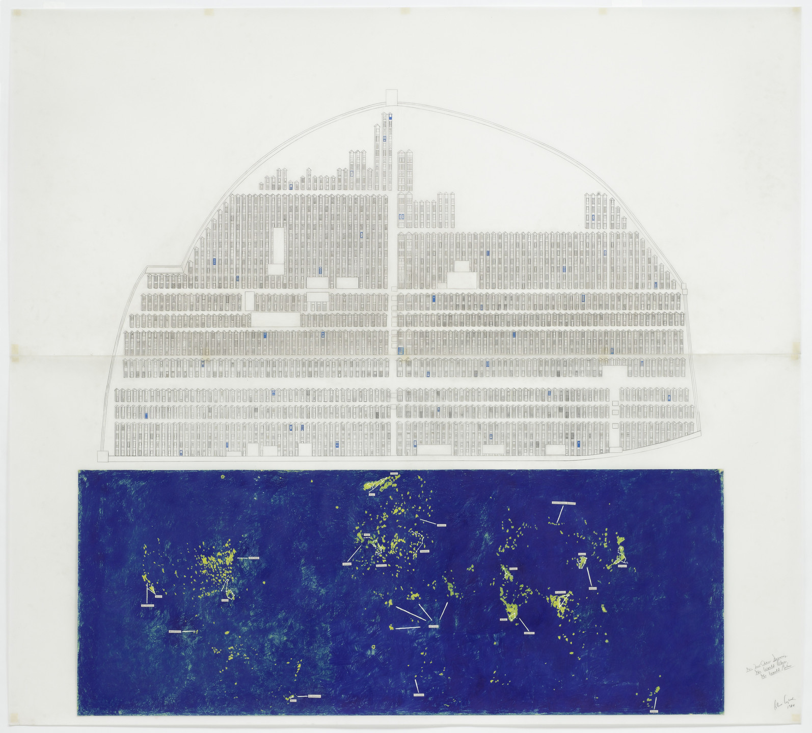 Alice Aycock. The New China Drawing: The World Above, The World Below. 1984