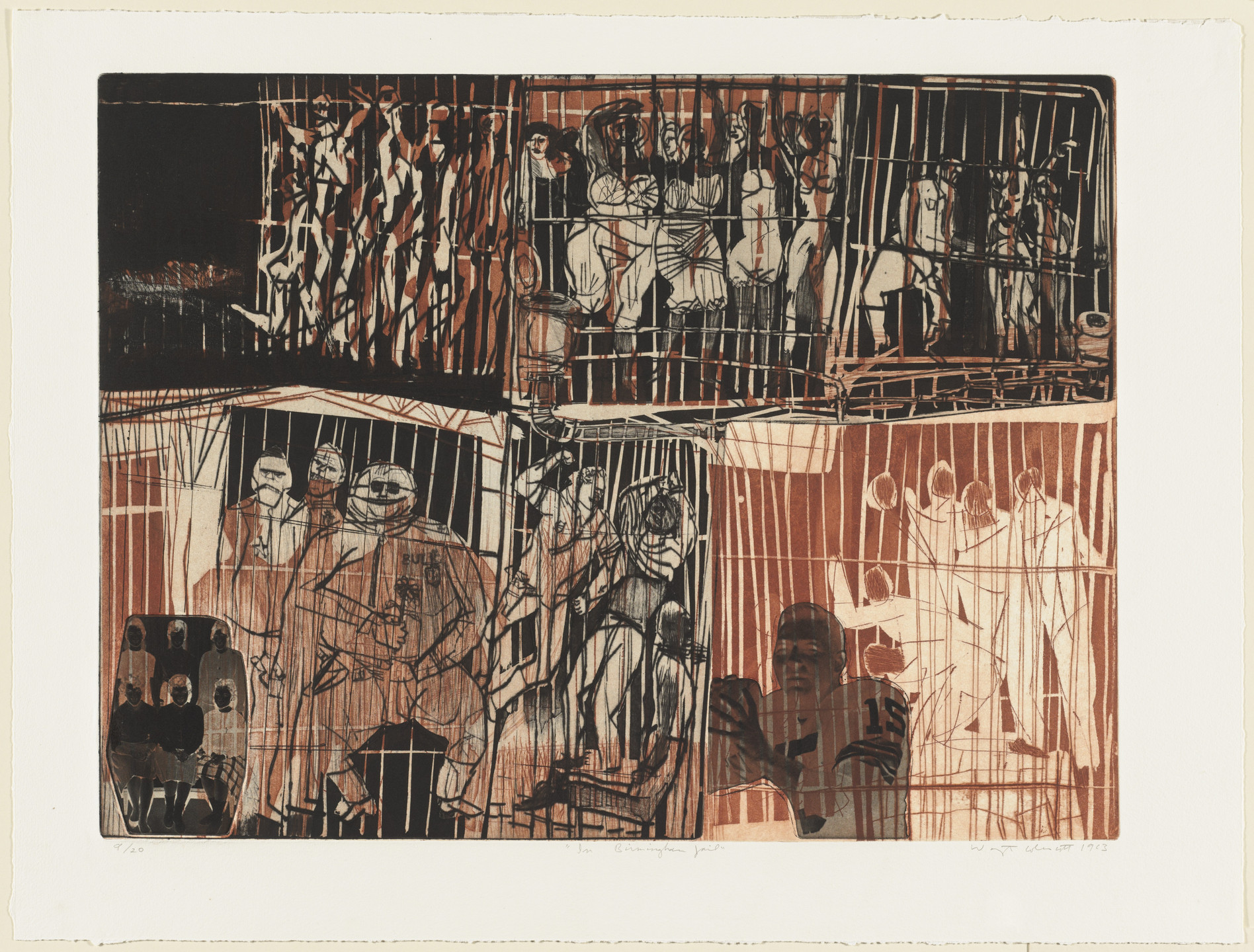 Warrington Colescott. In Birmingham Jail. 1963