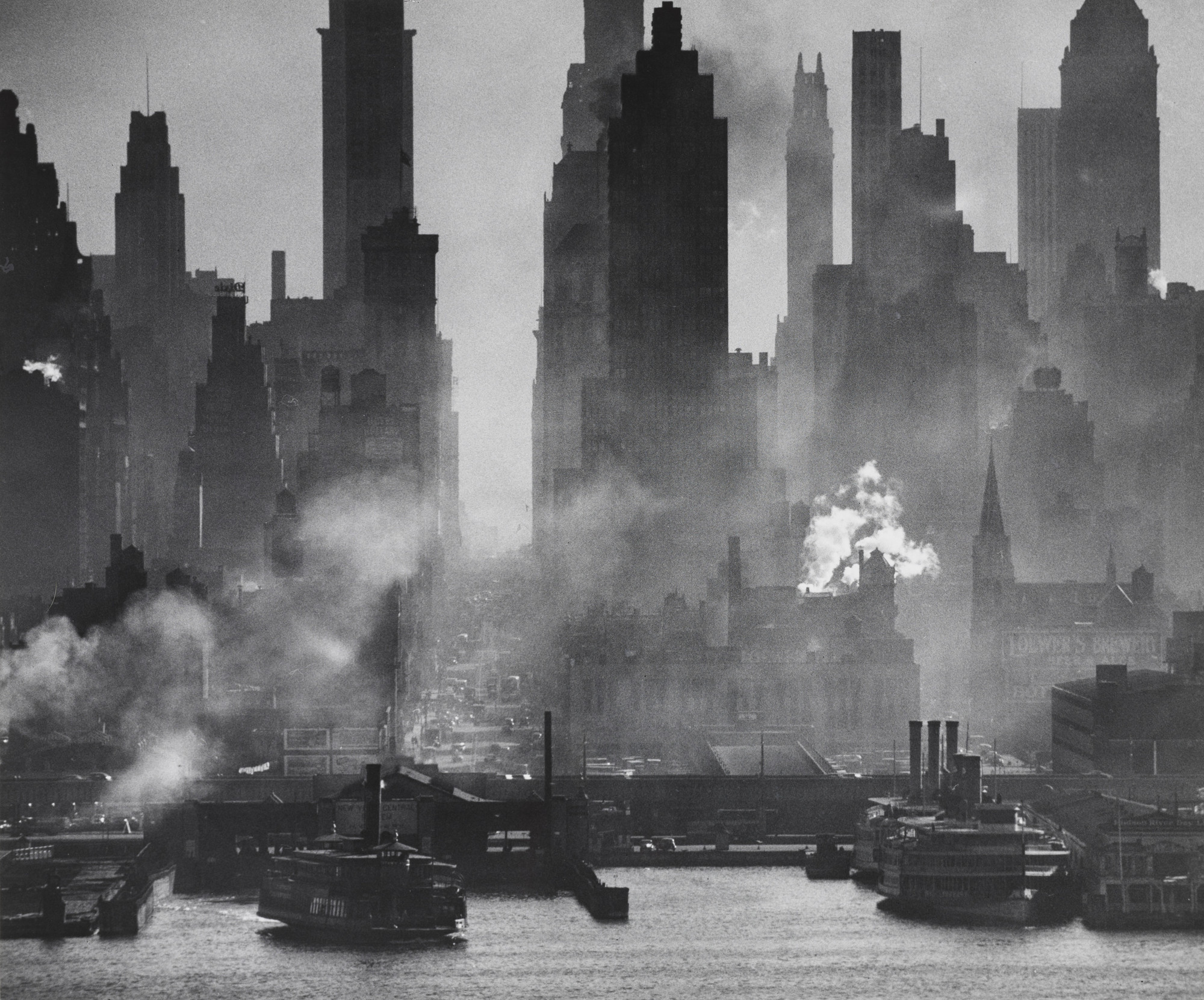 Andreas Feininger. 42nd Street Seen from Across the Hudson. c. 1945