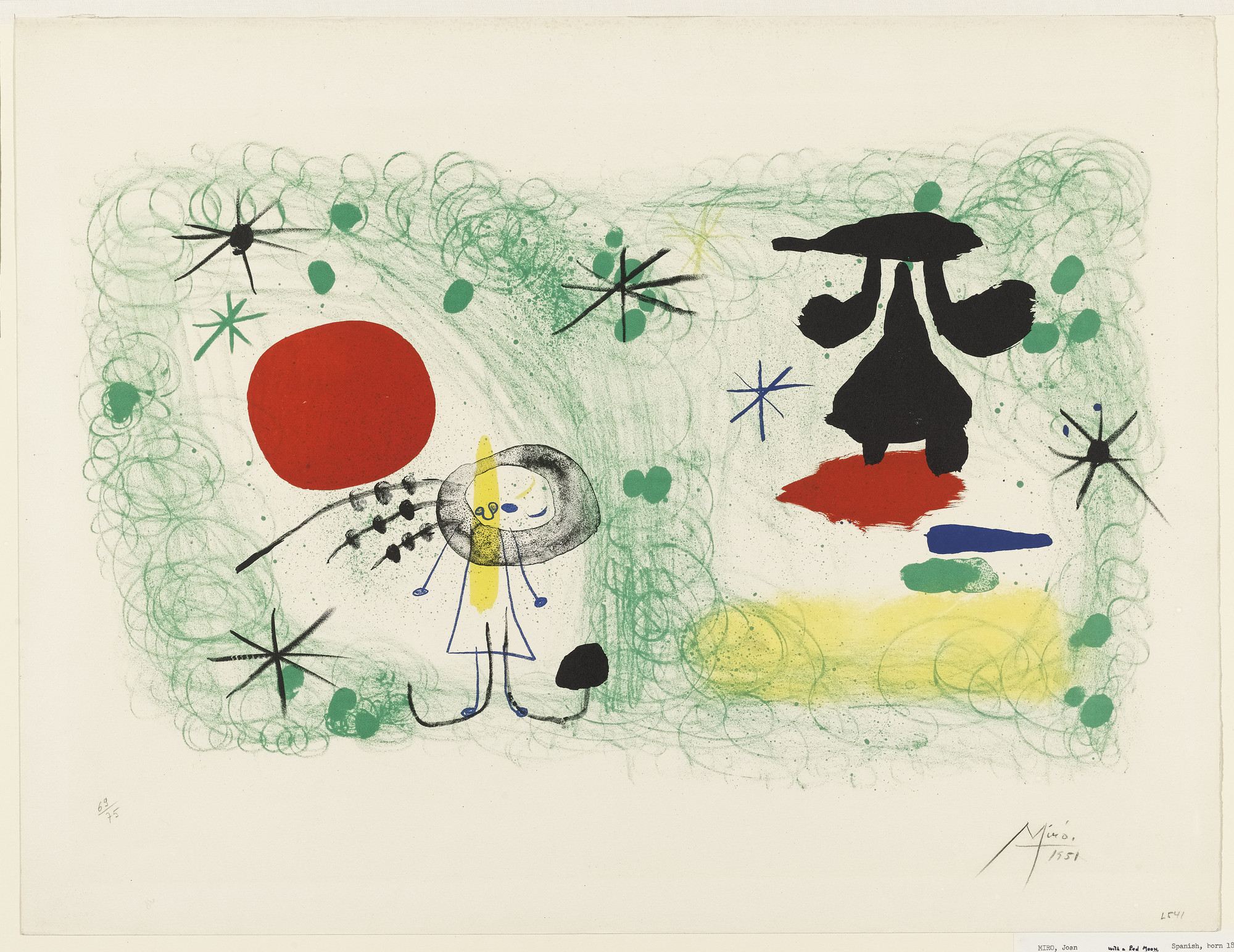 Joan Miró. Person in a Garden, II. 1951