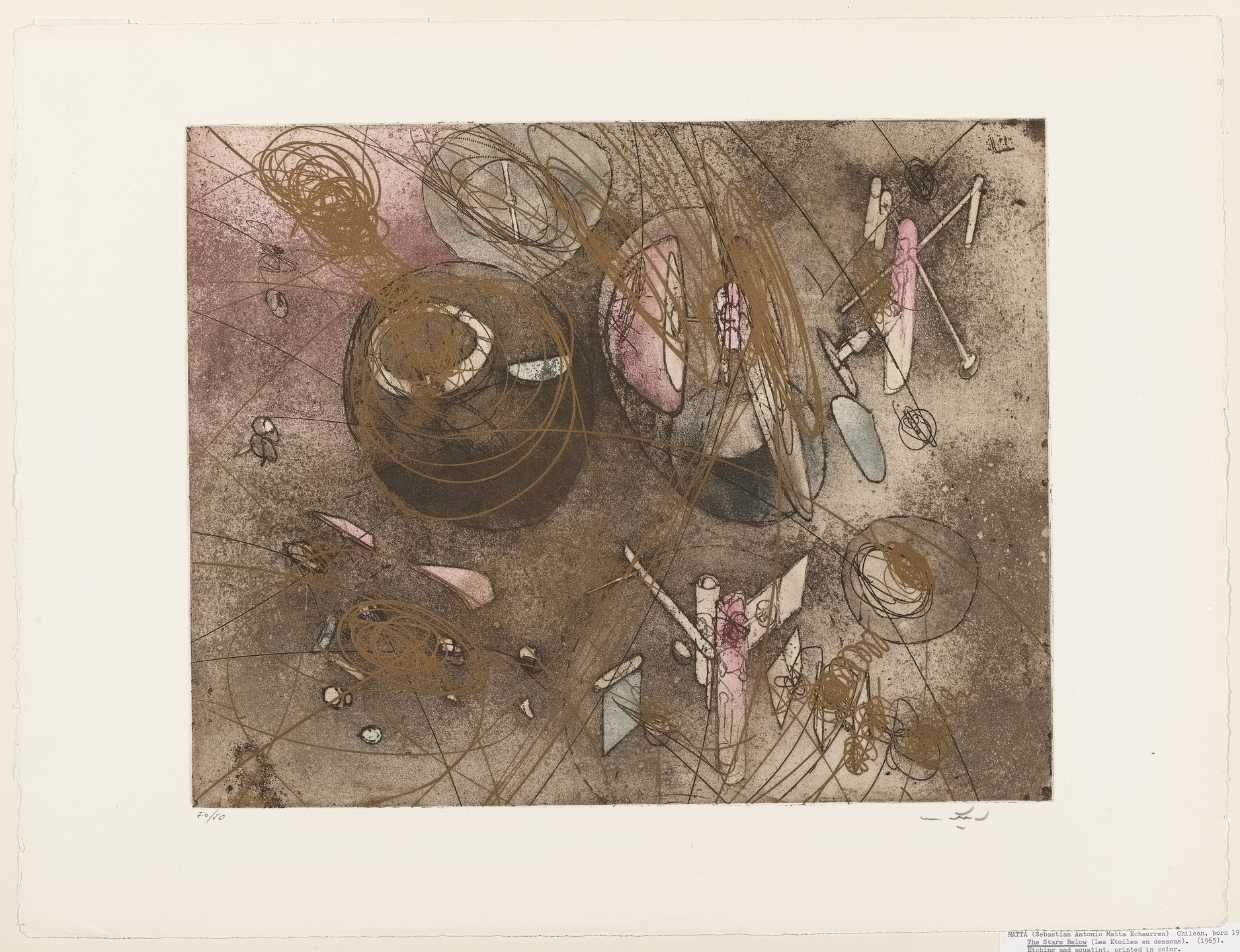 Roberto Matta. The Stars Below. 1965