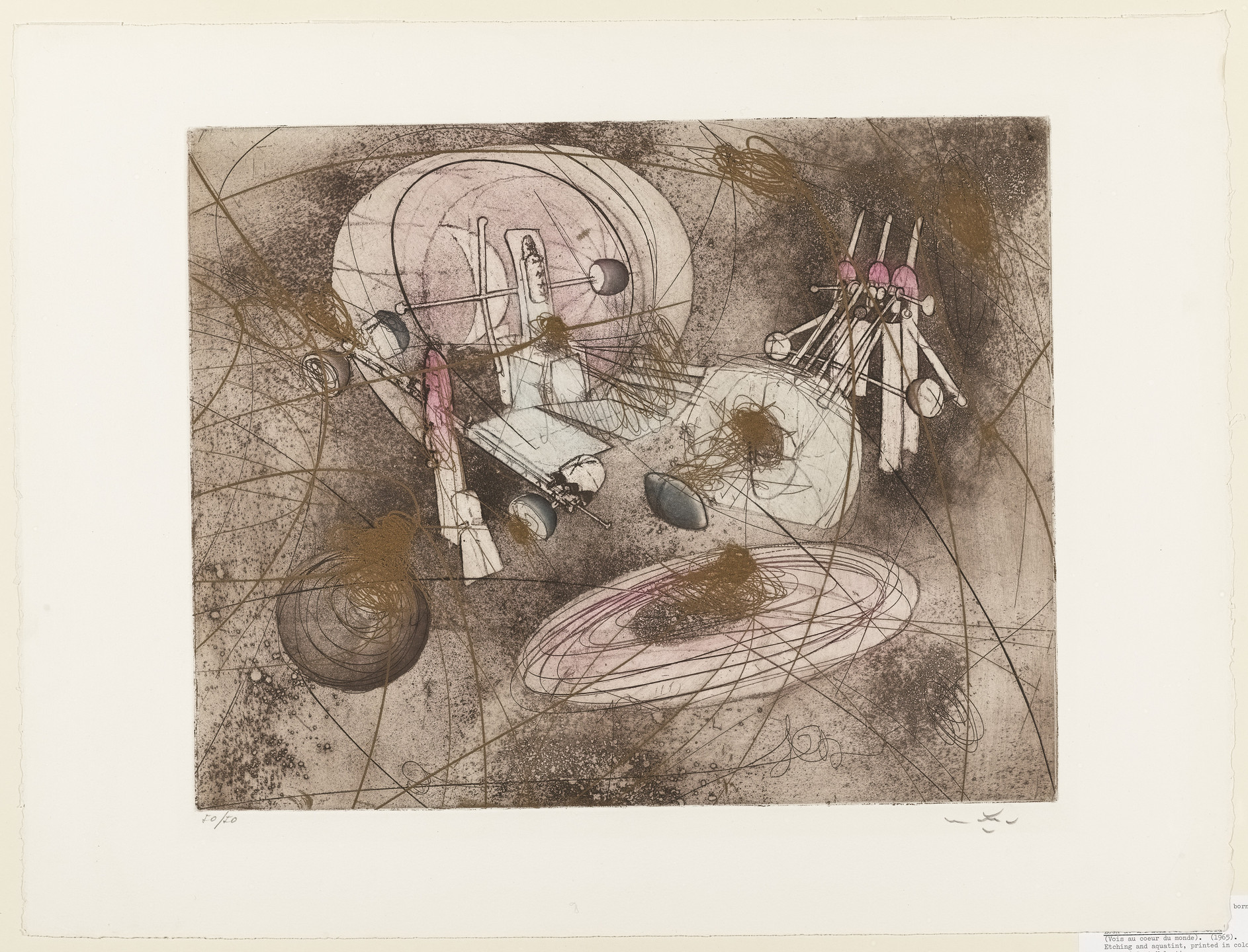 Roberto Matta. Look at the Heart of the World (Vois au coeur du monde). 1965