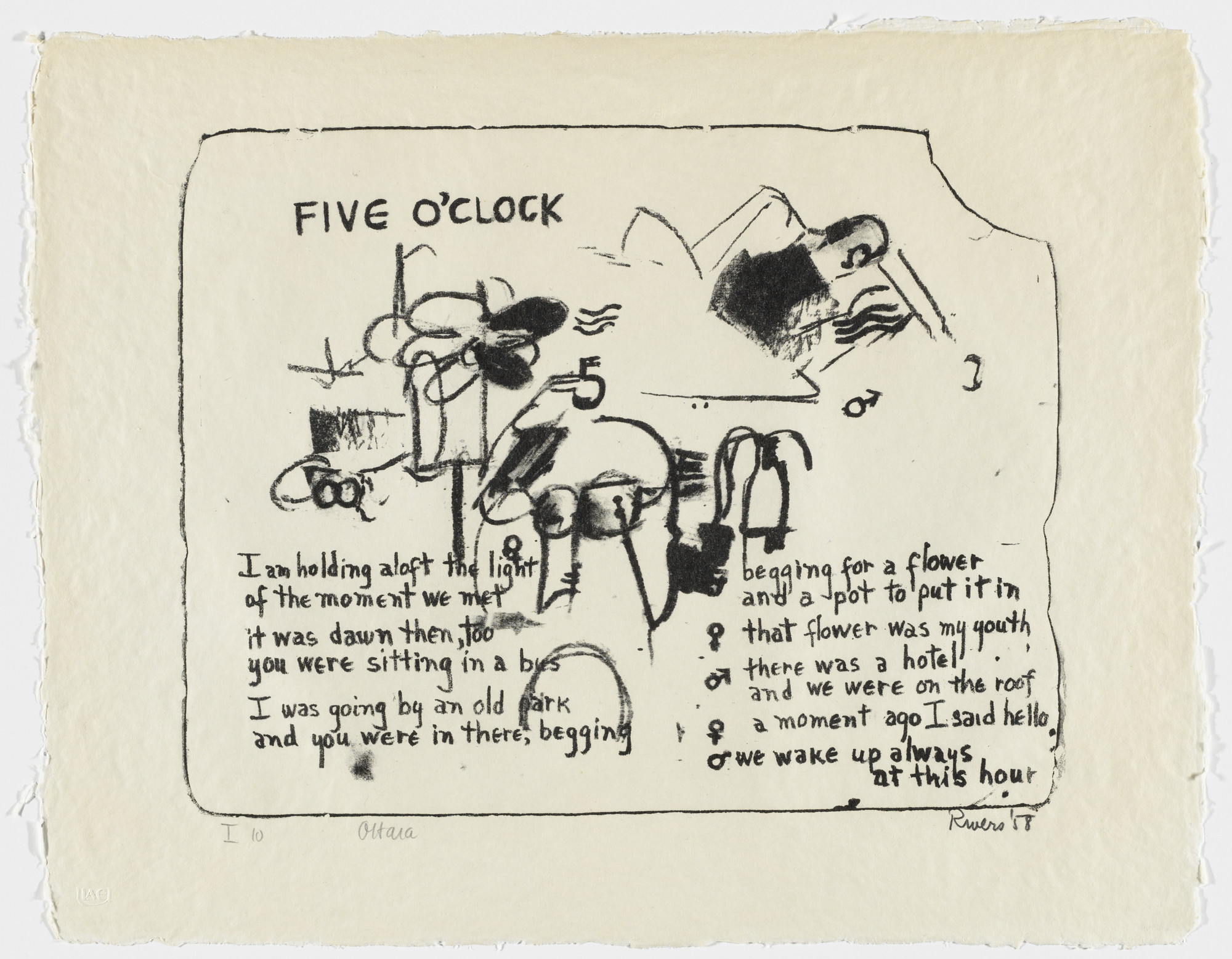 Larry Rivers. Five O'Clock from Stones. 1958, published 1960