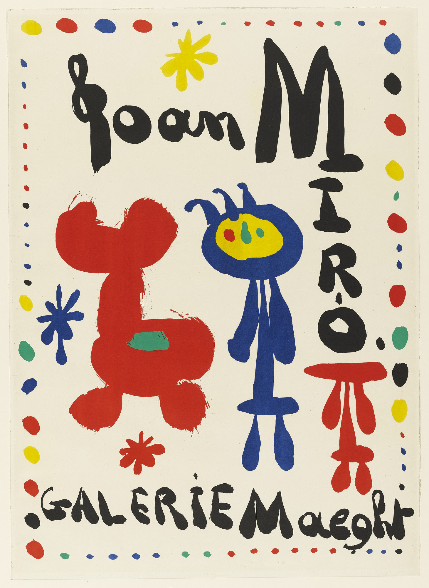 Joan Miró. Poster for Joan Miro, Galerie Maeght. 1948