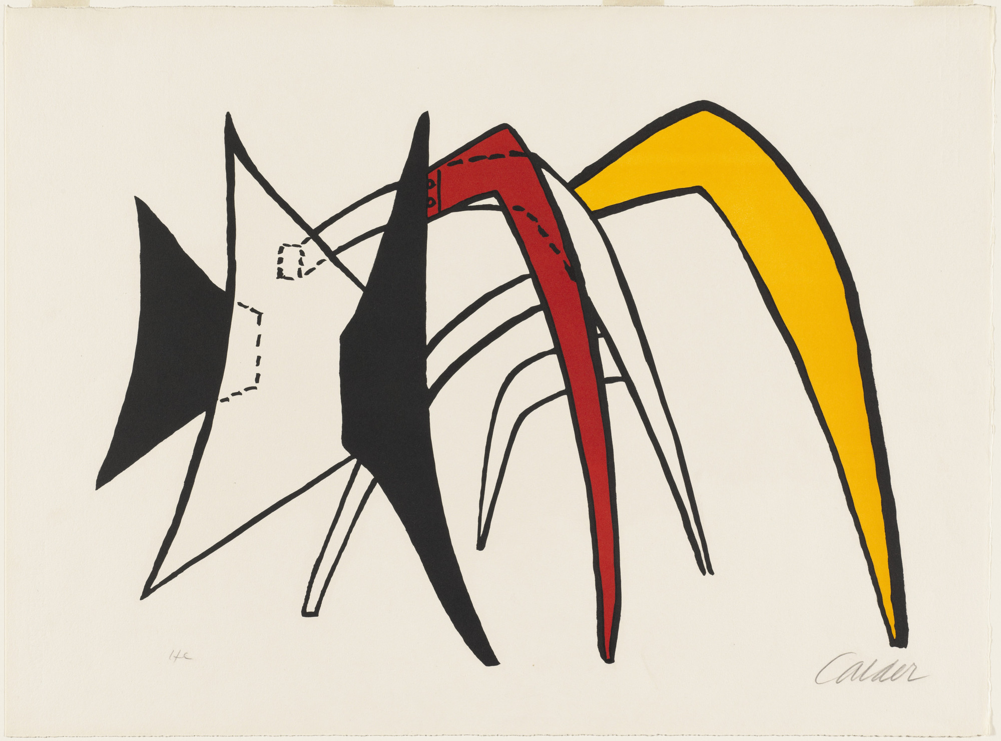 Alexander Calder. The Giant Yellow Ant-Eater (Tamonoir jaune). 1963
