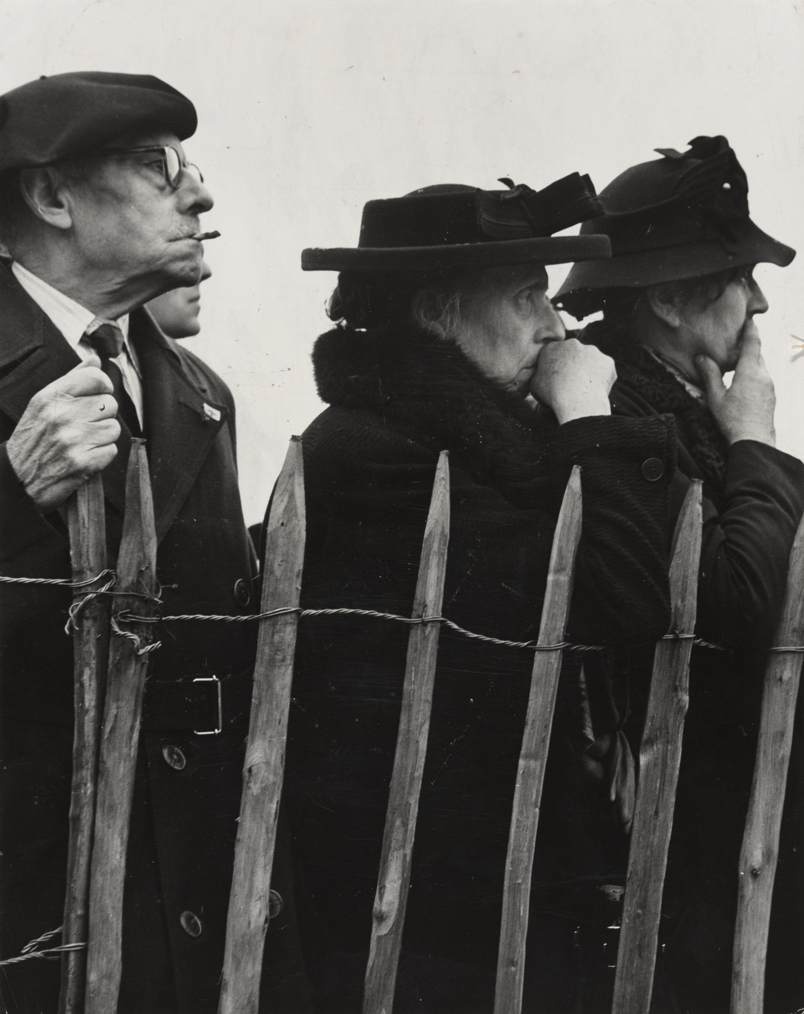 "Kryn Taconis/Magnum Photos Co.. ""French Voters at a Political Rally"". 1945"