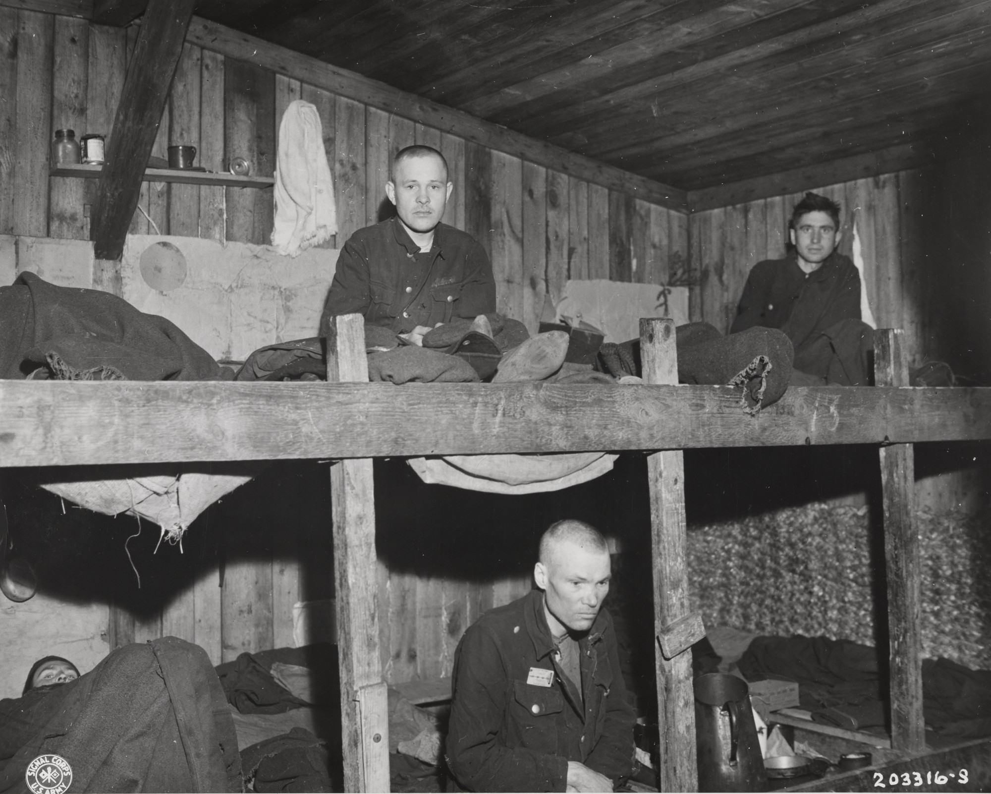 "U.S. Army Signal Corps. ""Russian Soldiers with Consumption"". April 7, 1945"
