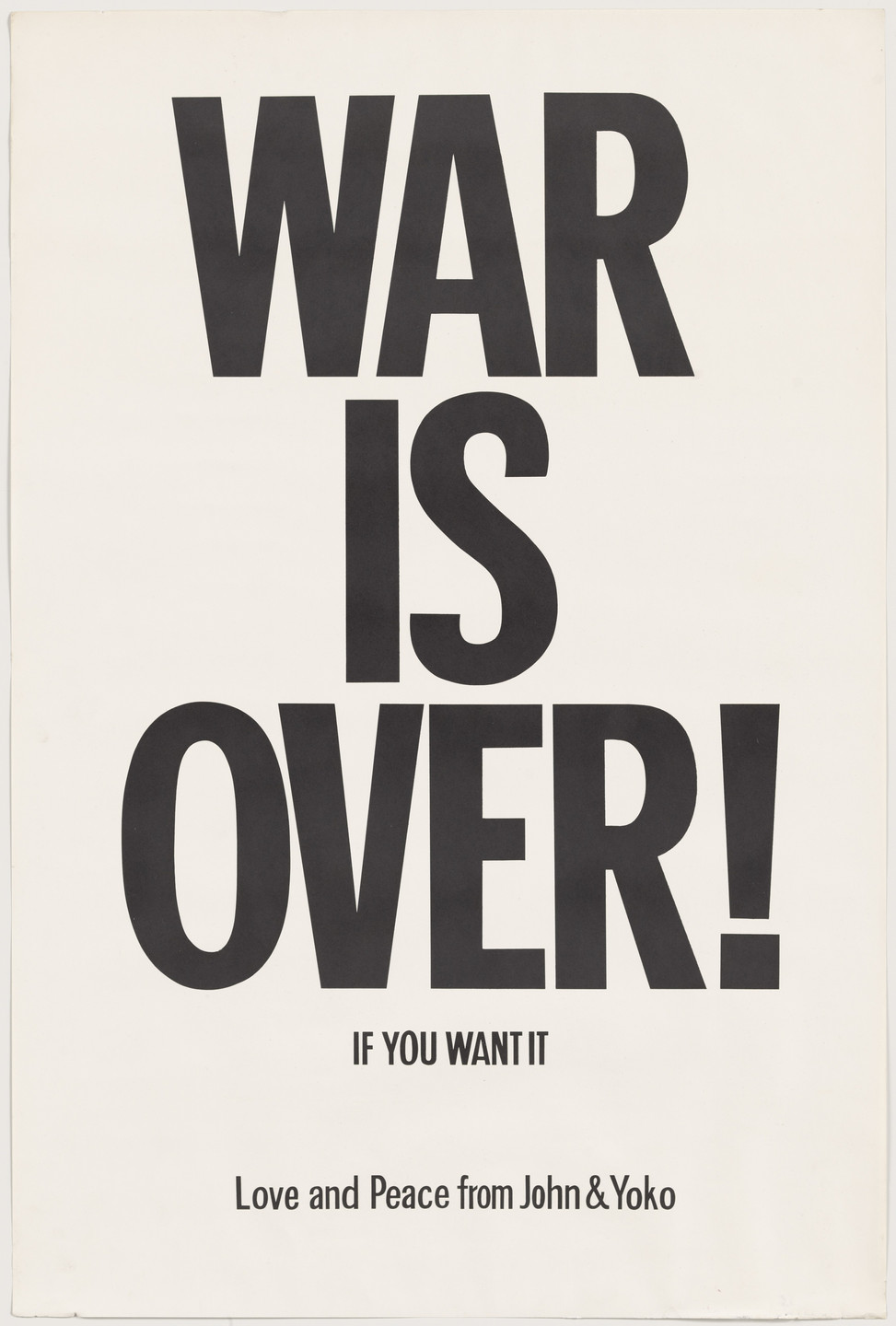 Yoko Ono, John Lennon. WAR IS OVER!. 1969