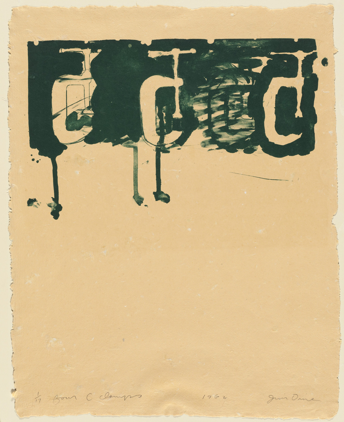 Jim Dine. Four C Clamps. 1962