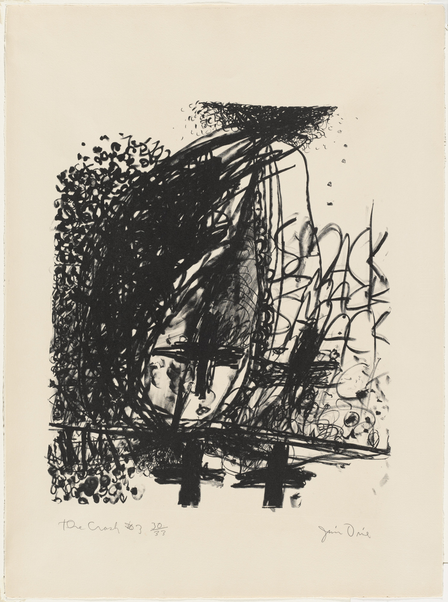 Jim Dine. Car Crash III. (1960) | MoMA