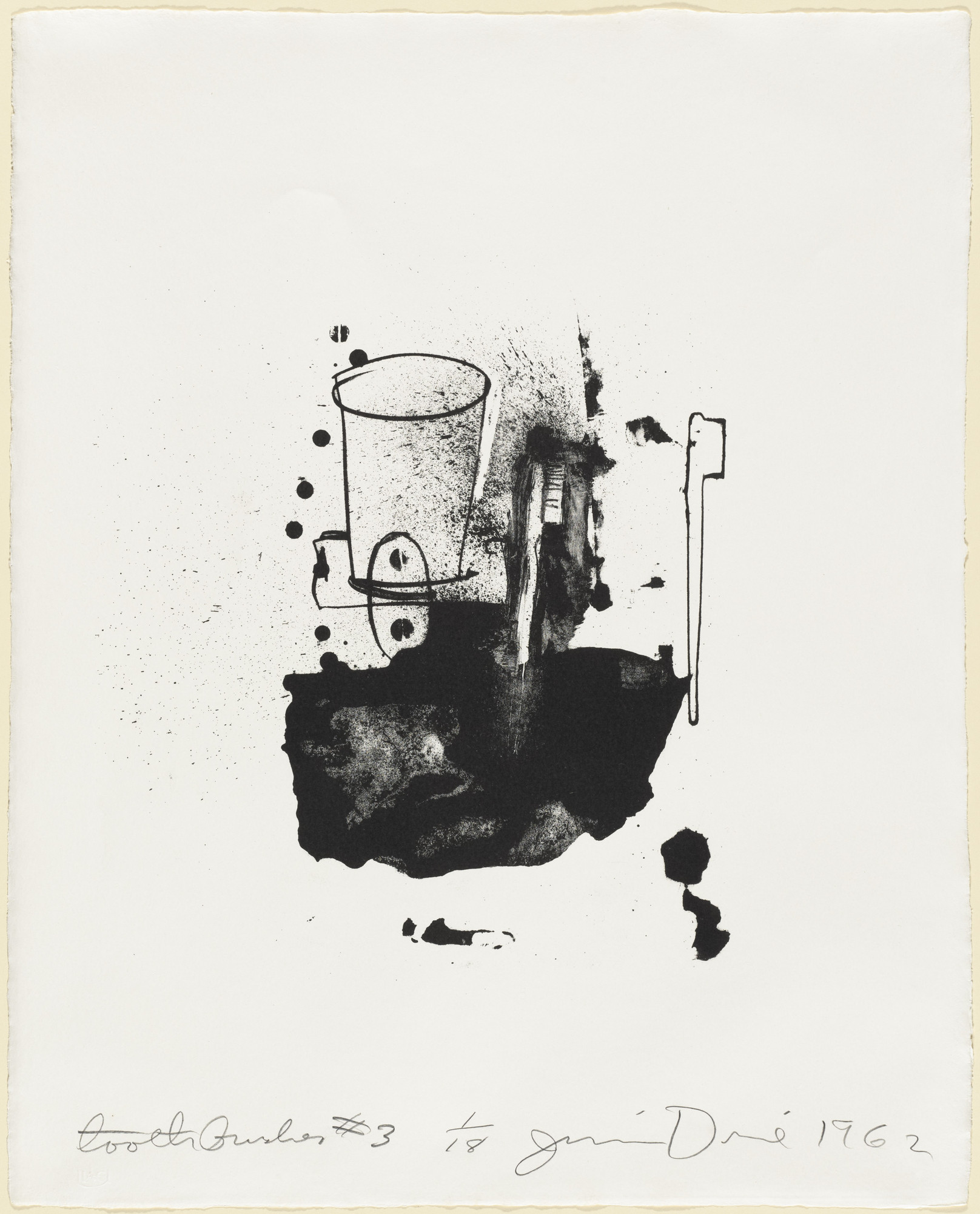 Jim Dine. Toothbrushes #3. 1962