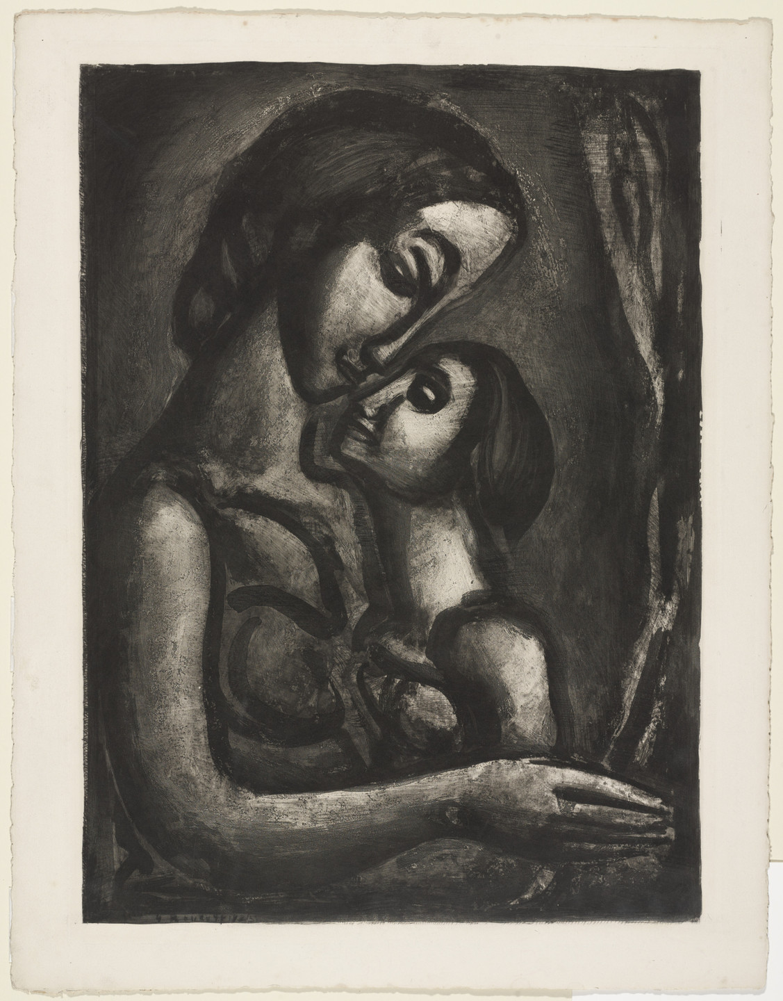 Georges Rouault. Trial proof for It Would be So Sweet to Love!, plate XIII from Miserere. (Book commissioned, but unpublished by Vollard; Print executed 1923; Book publi