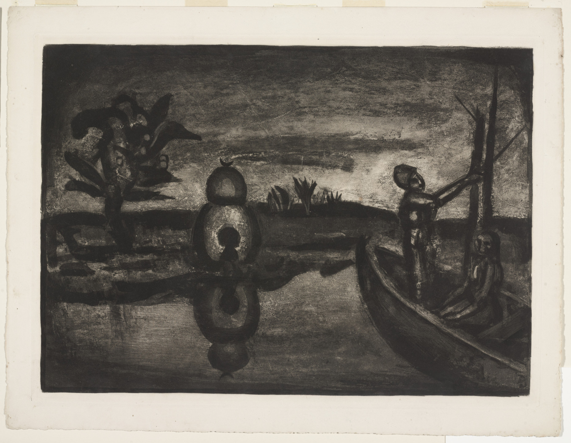 Georges Rouault. Trial proof for In the Land of Thirst and Terror, plate XXVI from Miserere. (Book commissioned, but unpublished by Vollard; Print executed 1923; Book publi