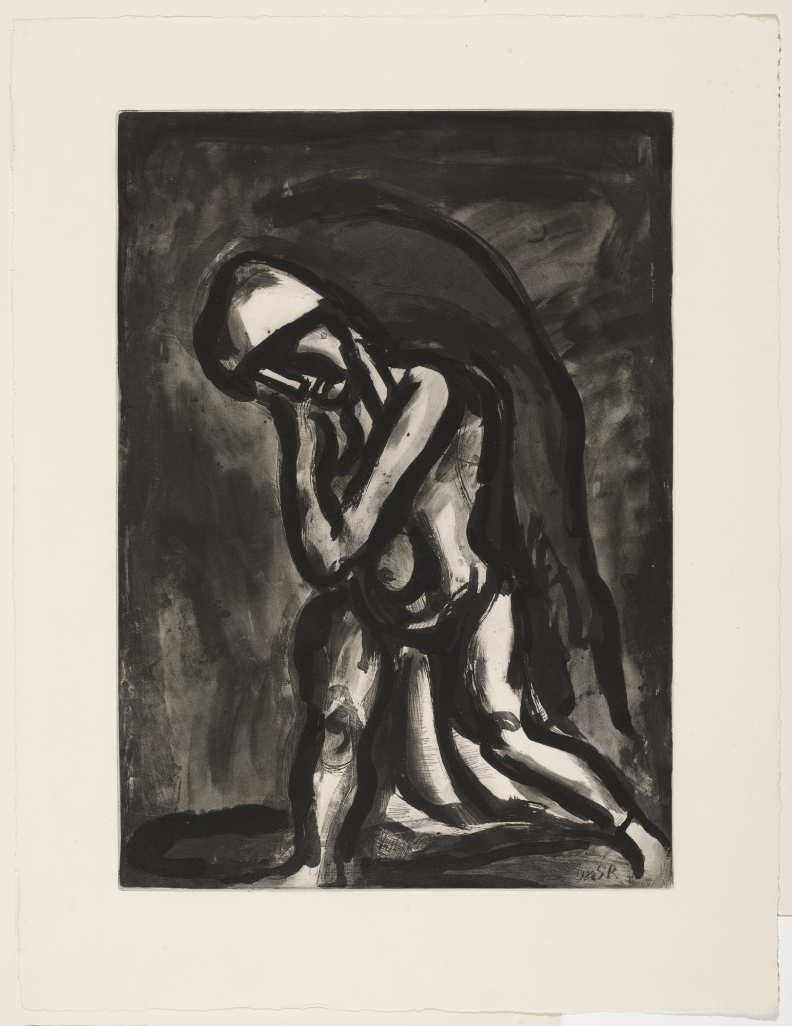"Georges Rouault. ""Winter, Leper of the Earth"" («Hiver lèpre de la terre»), plate XXIV from Miserere. 1922, published 1948"