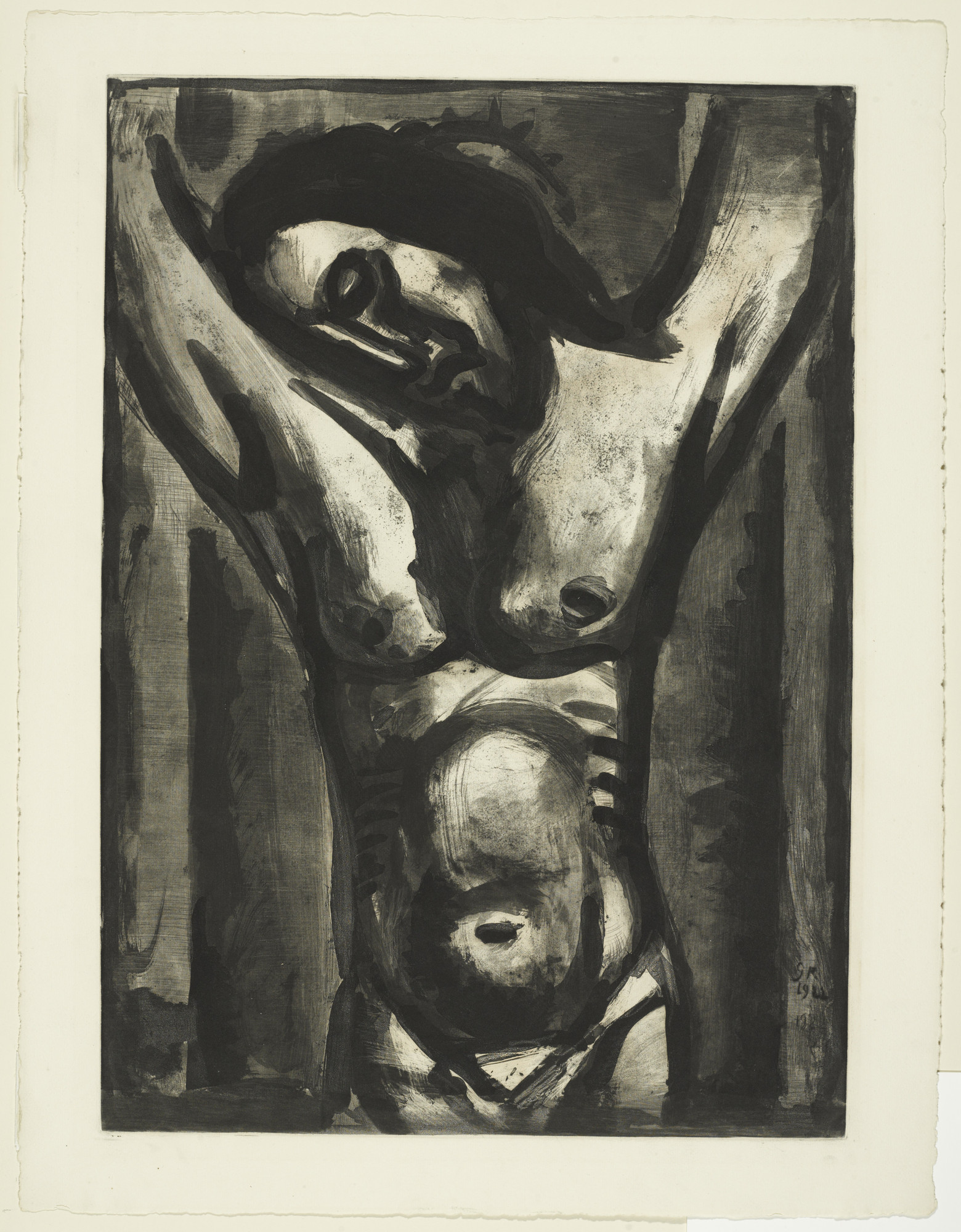 "Georges Rouault. ""Jesus Will Be in Agony until the End of the World..."" («Jésus sera en agonie jusqu'à la fin du monde...»), plate XXXV from Miserere. 1926, published 1948"