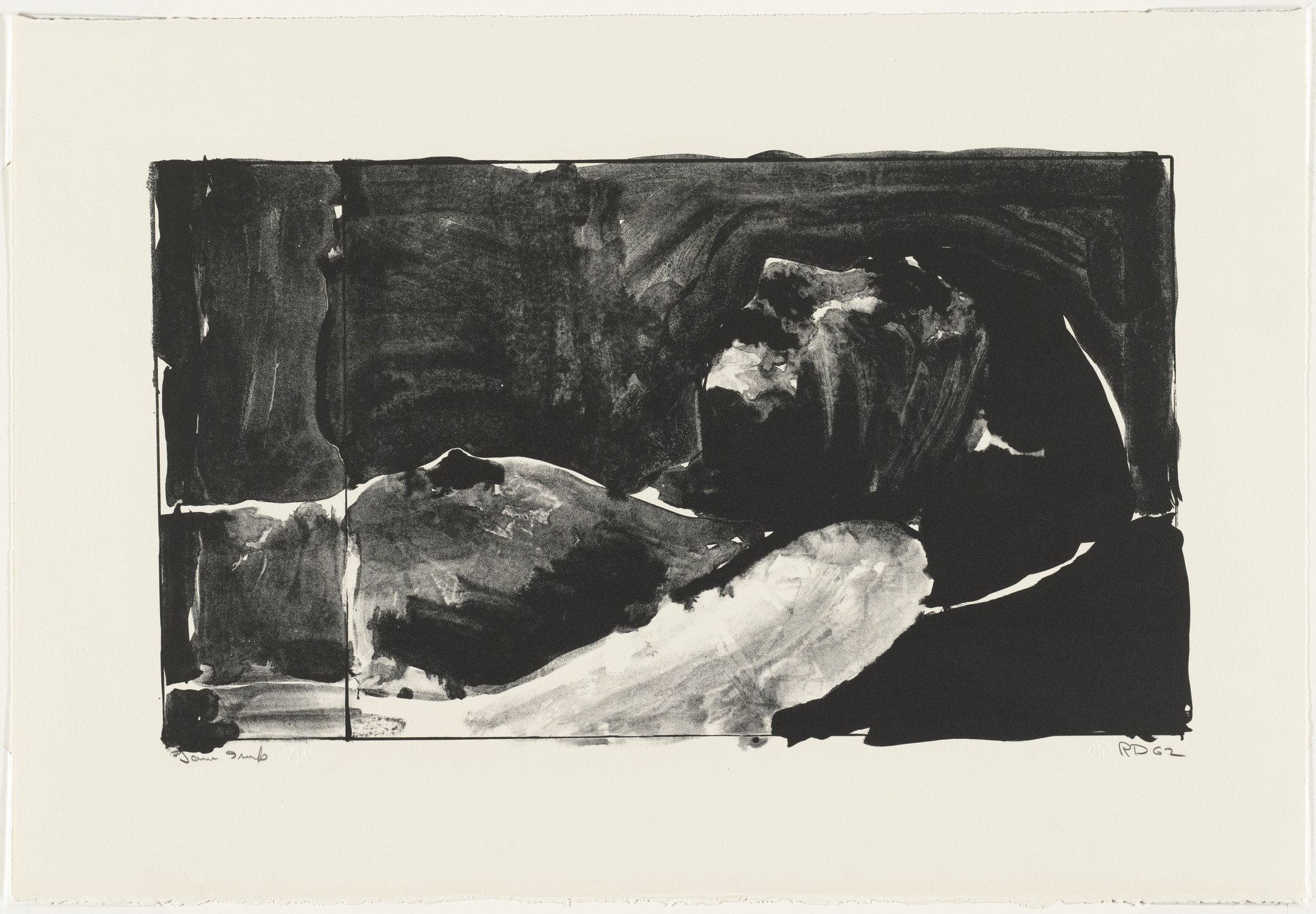 Richard Diebenkorn. Reclining Woman. (April 30-May 1) 1962